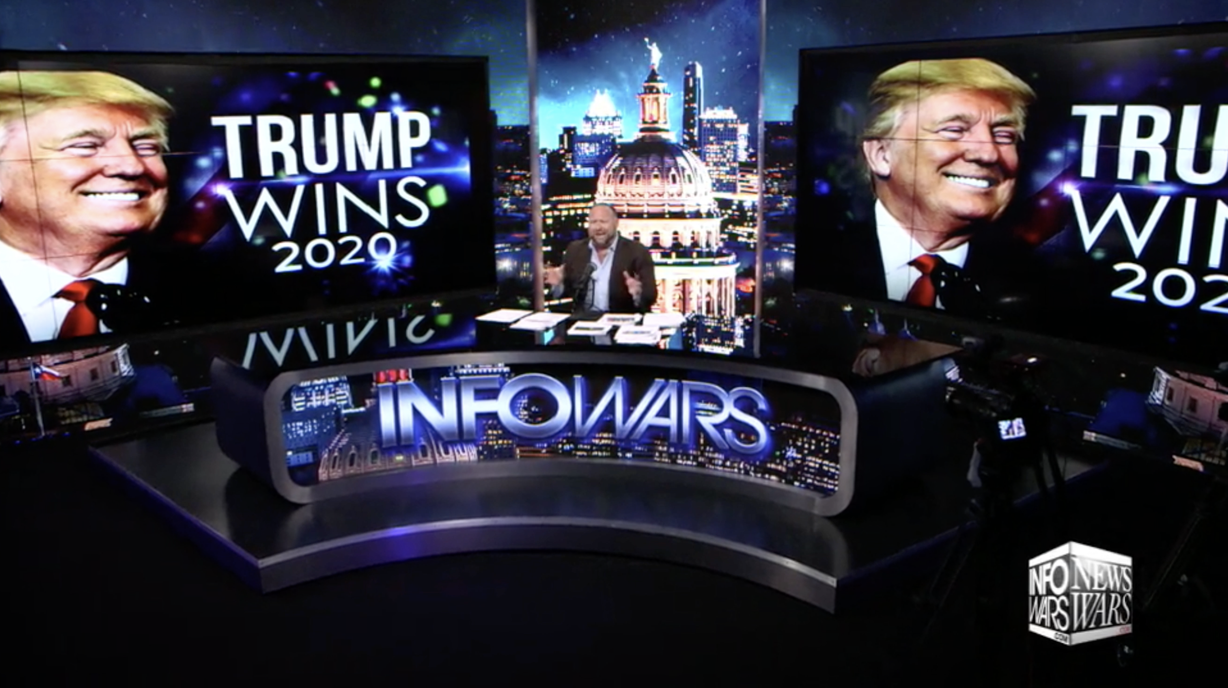 Alex Jones Infowars Studio Trump Wins Election 2020 EXZM September 7th 2020