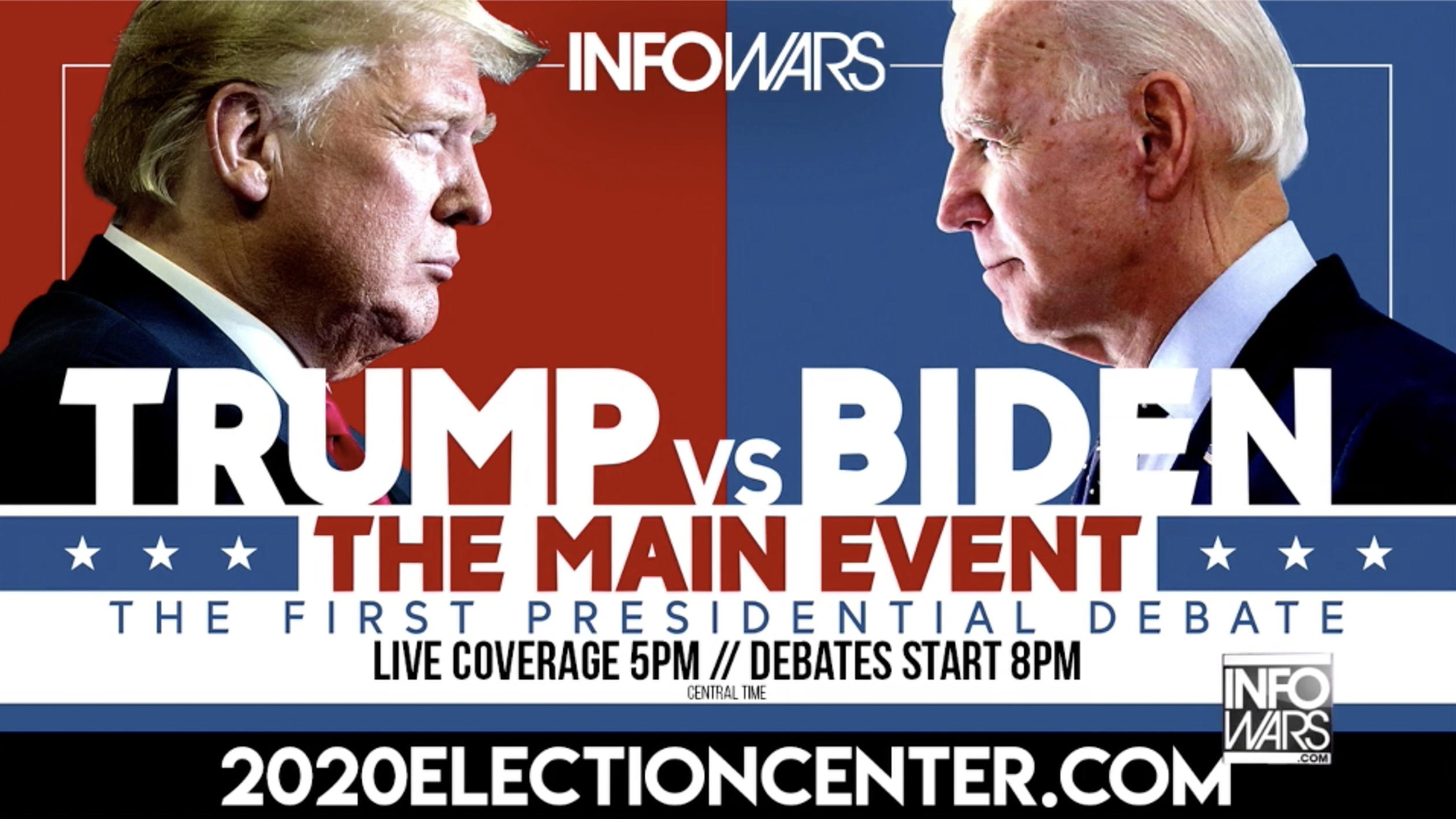 Alex Jones Infowars Trump biden 1st Presidential Debate EXZM September 29th 2020