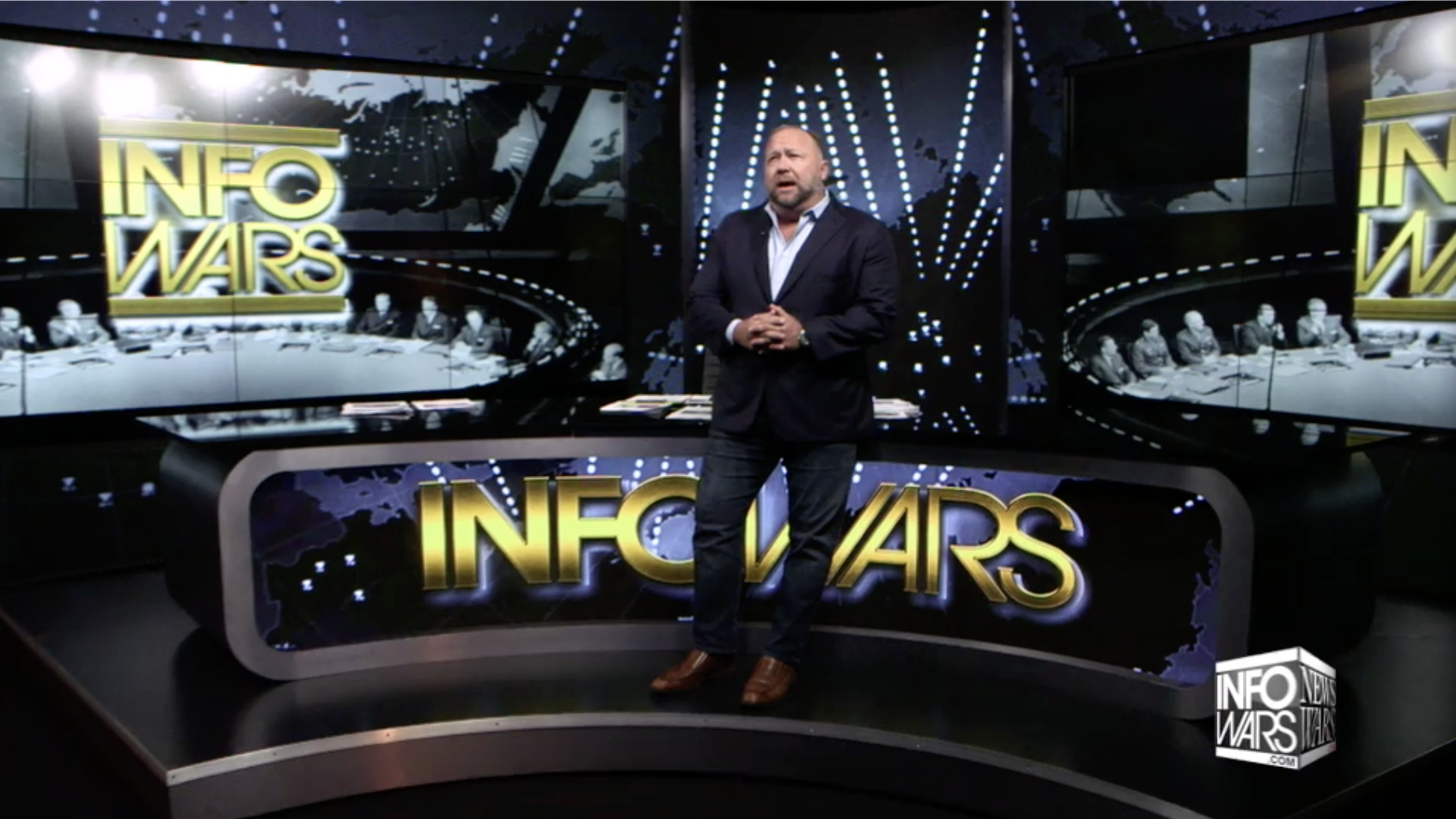 Alex Jones Stands Standing Infowars Studio EXZM September 21st 2020