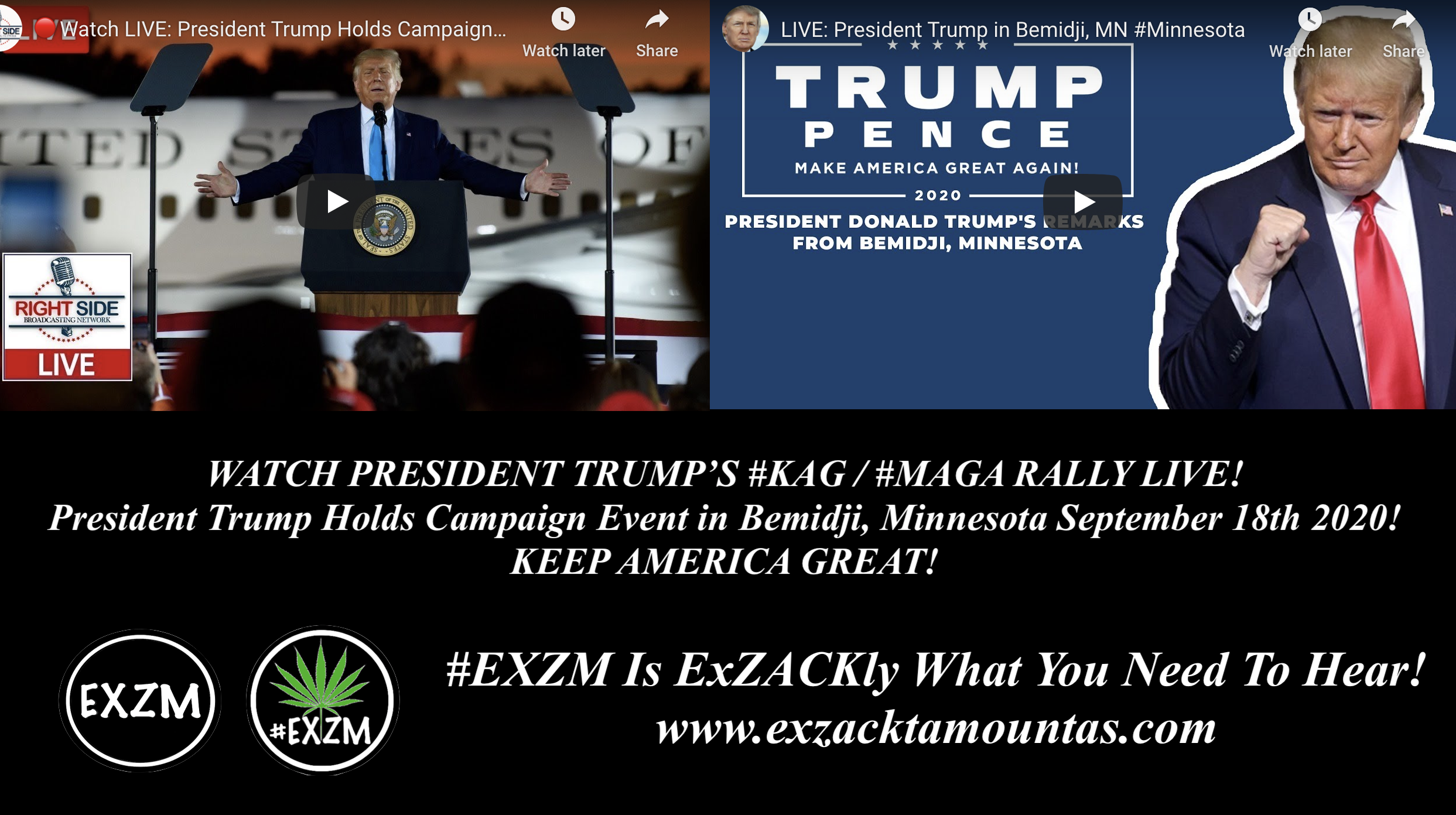 President Donald Trump KAG MAGA Rally Bemidji Minnesota EXZM September 18th 2020