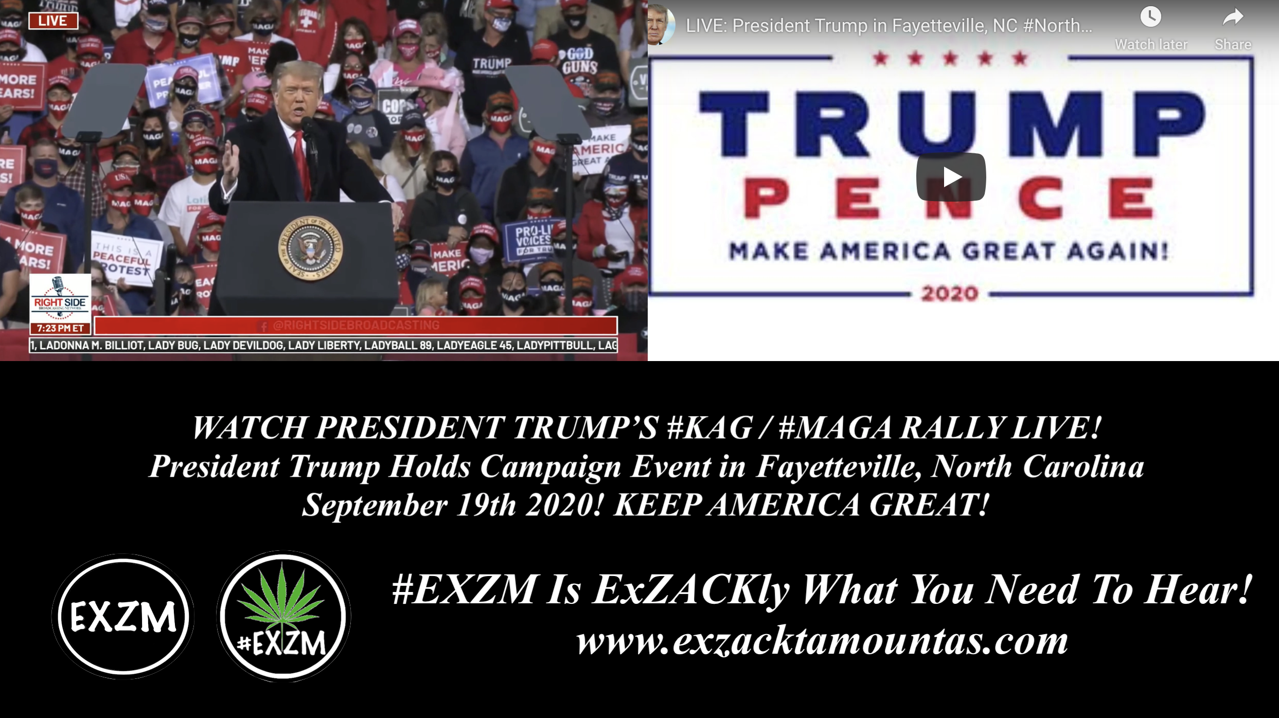 President Donald Trump KAG MAGA Rally Fayetteville North Carolina EXZM September 19th 2020