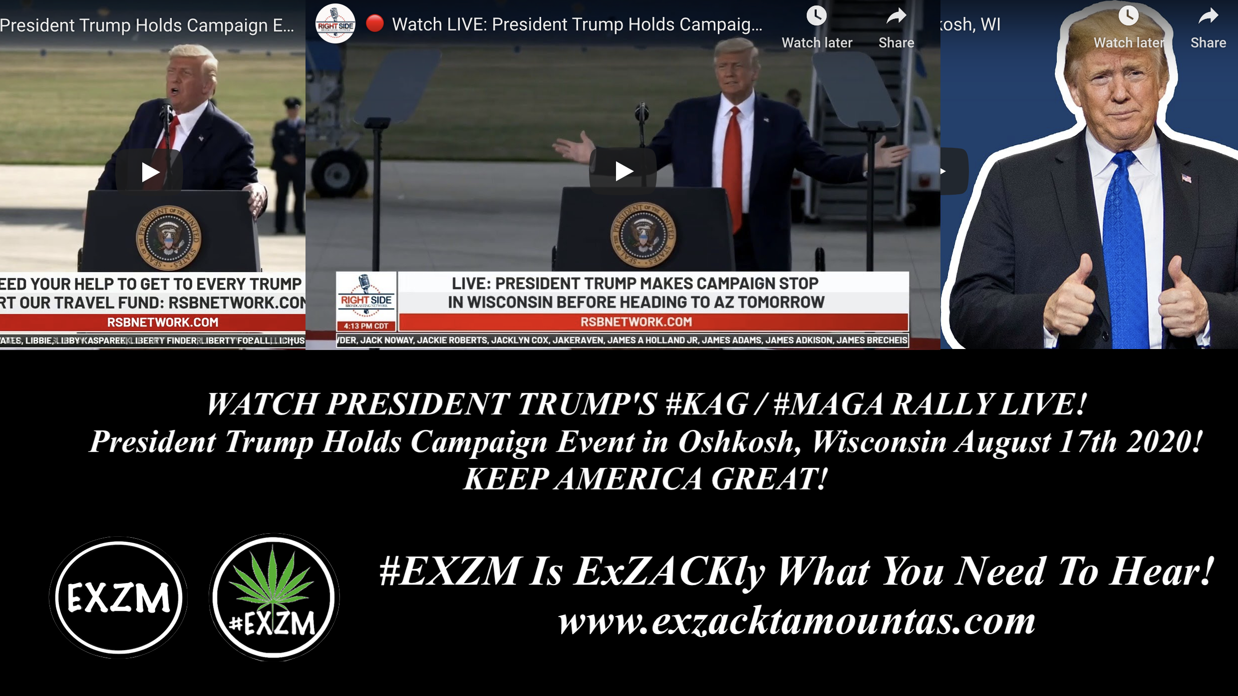 President Donald Trump KAG MAGA Rally Oshkosh Wisconsin August 17th 2020