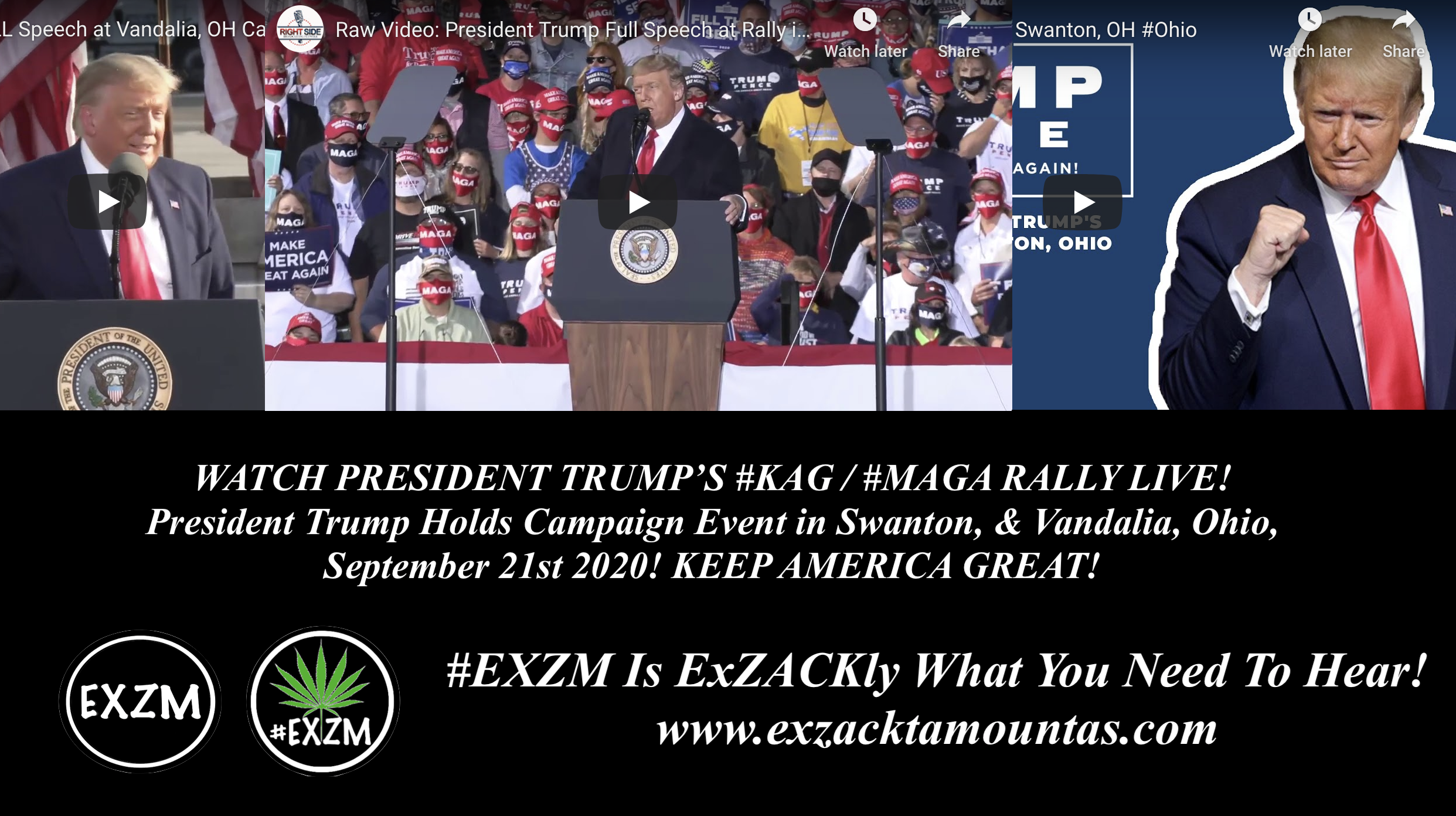 President Donald Trump KAG MAGA Rally Swanton Vandalia Ohio EXZM September 21st 2020