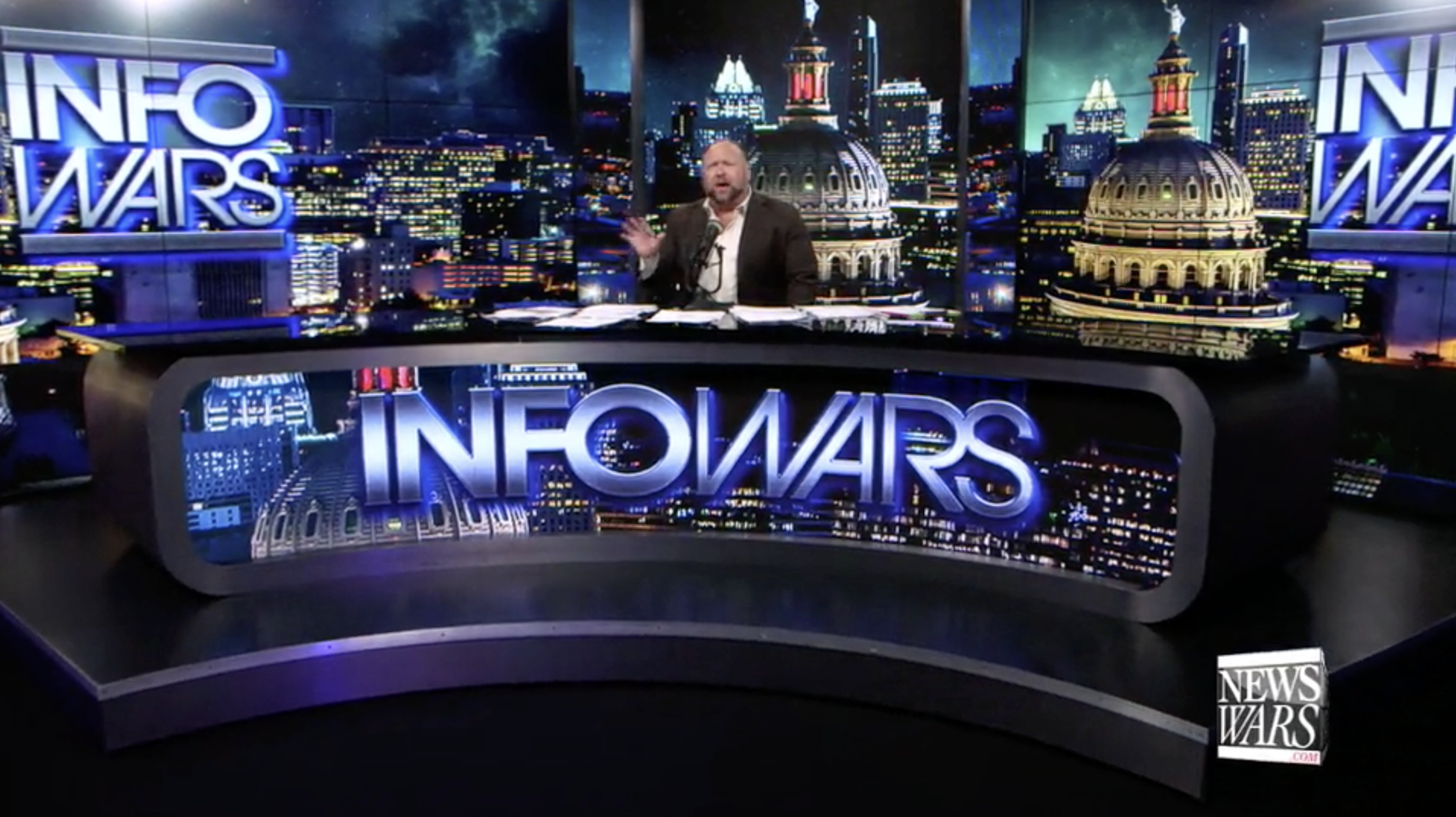 Alex Jones In Infowars Studio EXZM October 12th 2020