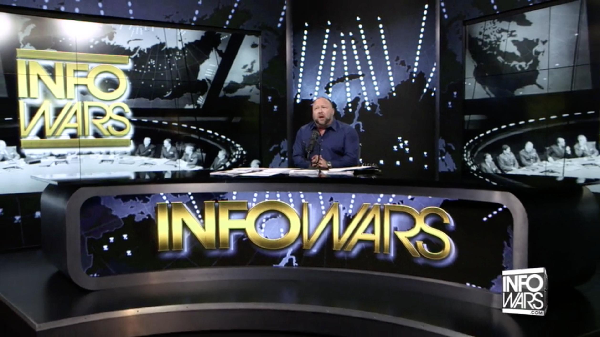 Alex Jones In Infowars Studio EXZM October 13th 2020