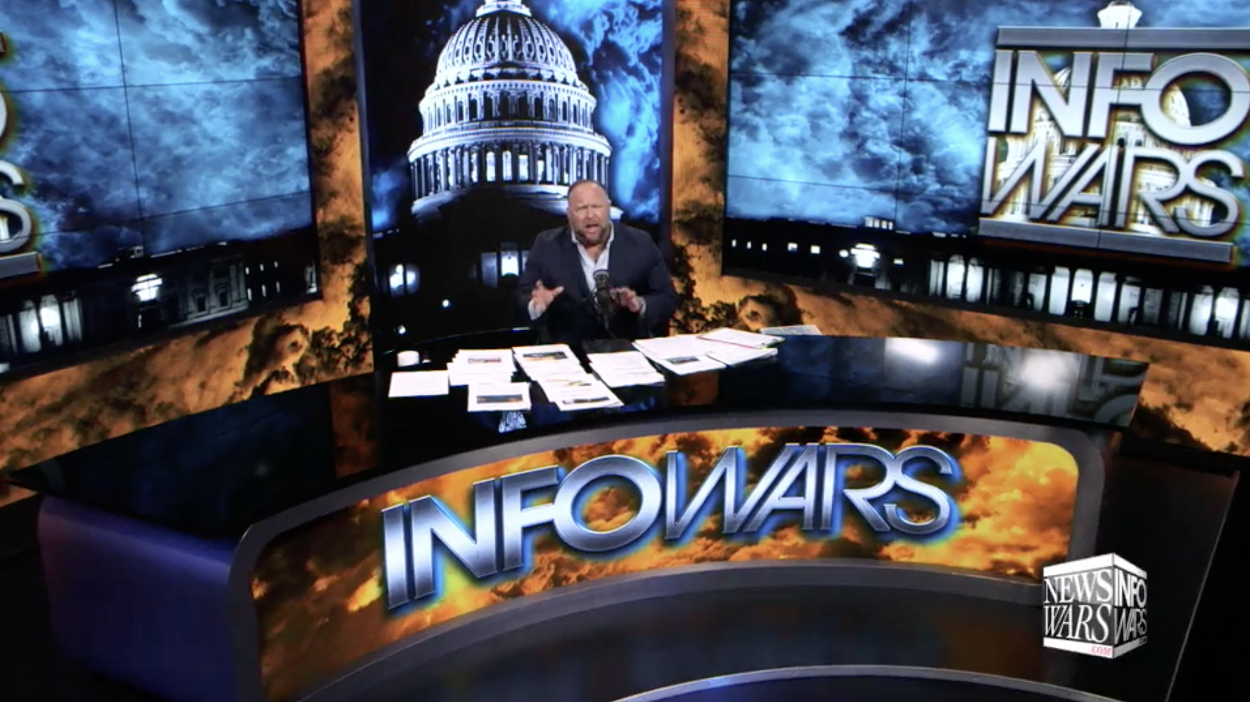 Alex Jones In Infowars Studio EXZM October 19th 2020