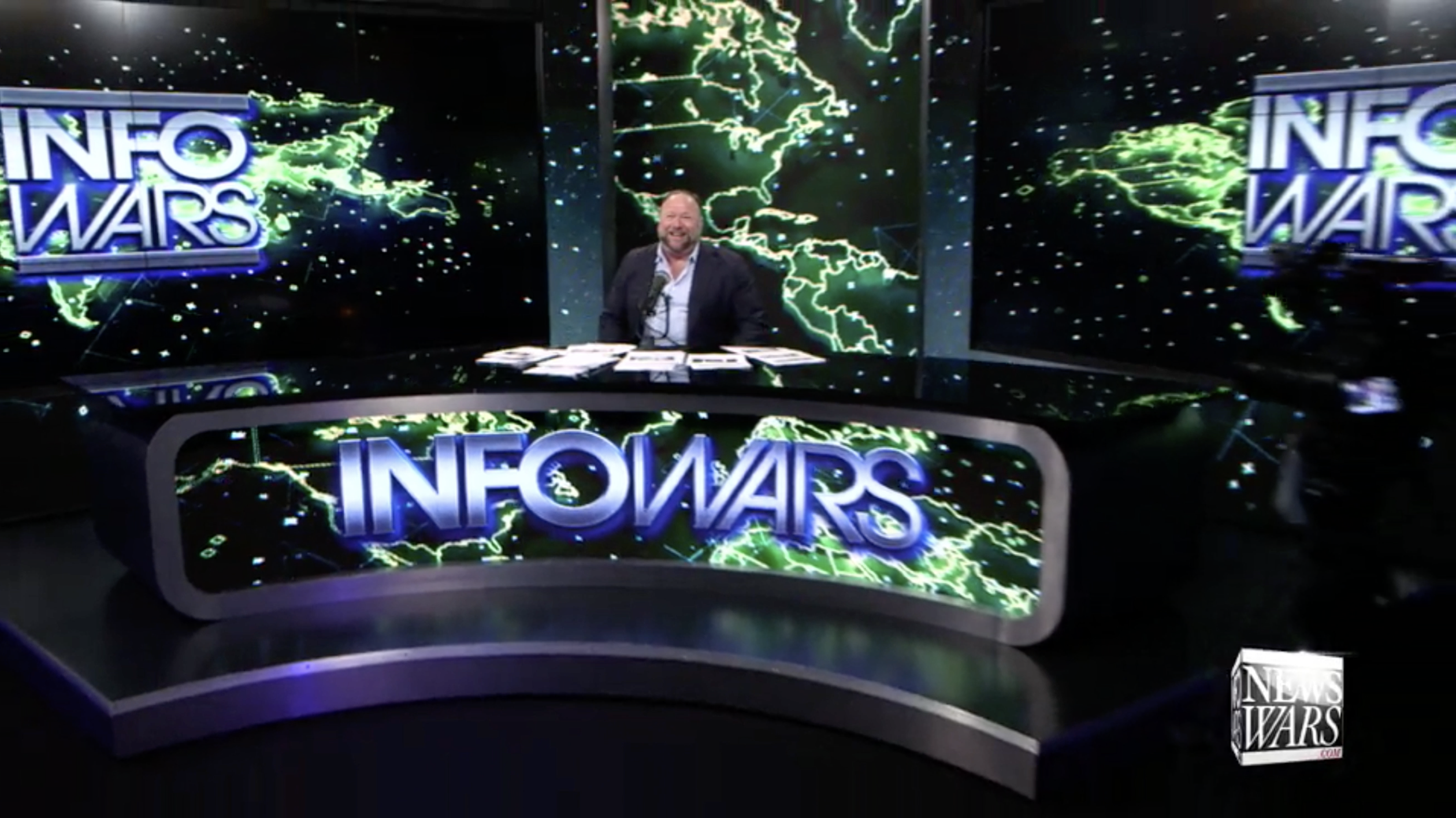 Alex Jones In Infowars Studio EXZM October 1st 2020