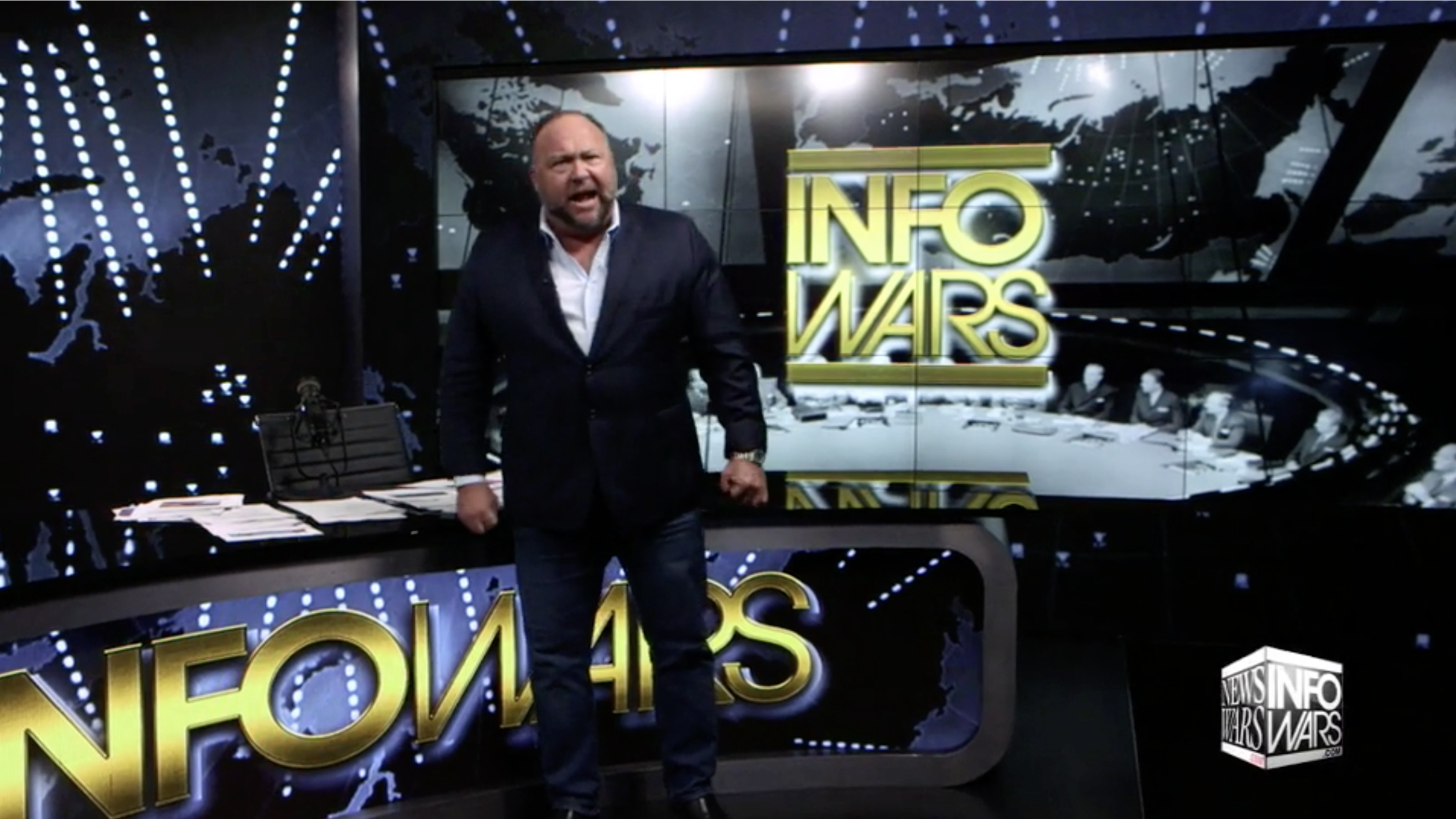 Alex Jones In Infowars Studio EXZM October 20th 2020