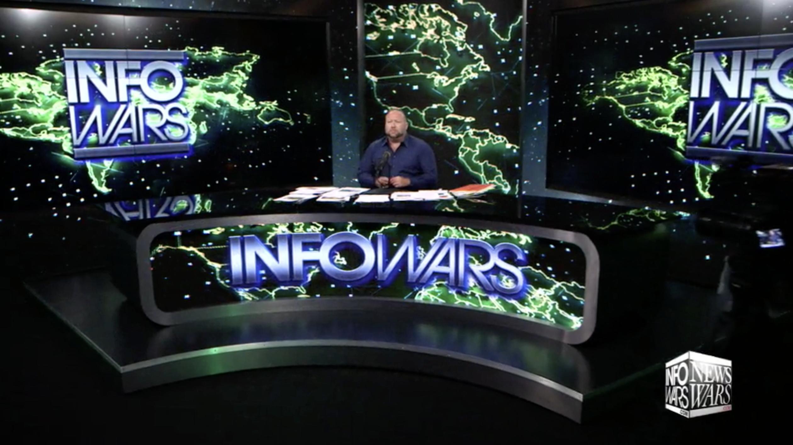 Alex Jones In Infowars Studio EXZM October 4th 2020
