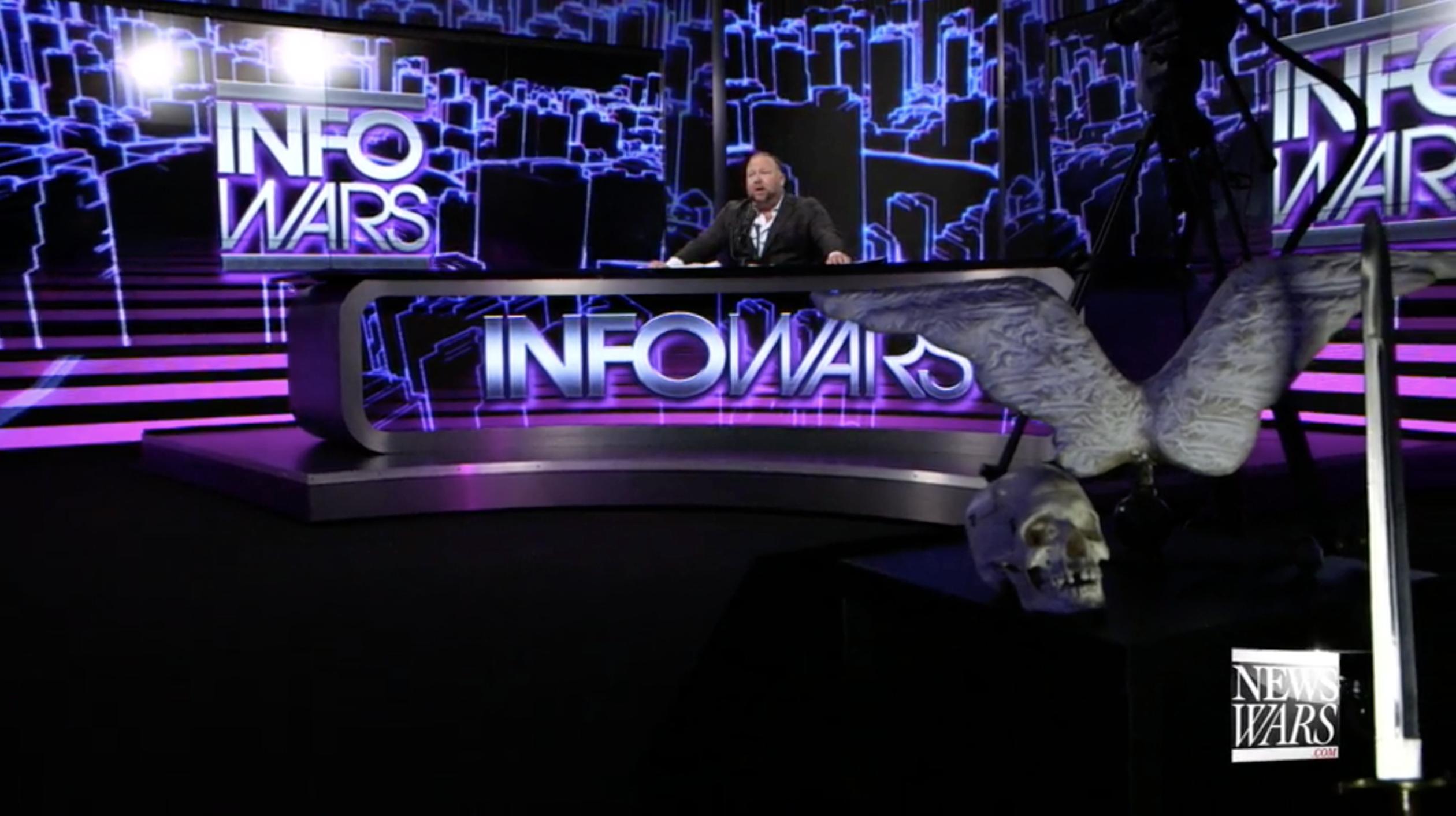 Alex Jones In Infowars Studio EXZM October 5th 2020