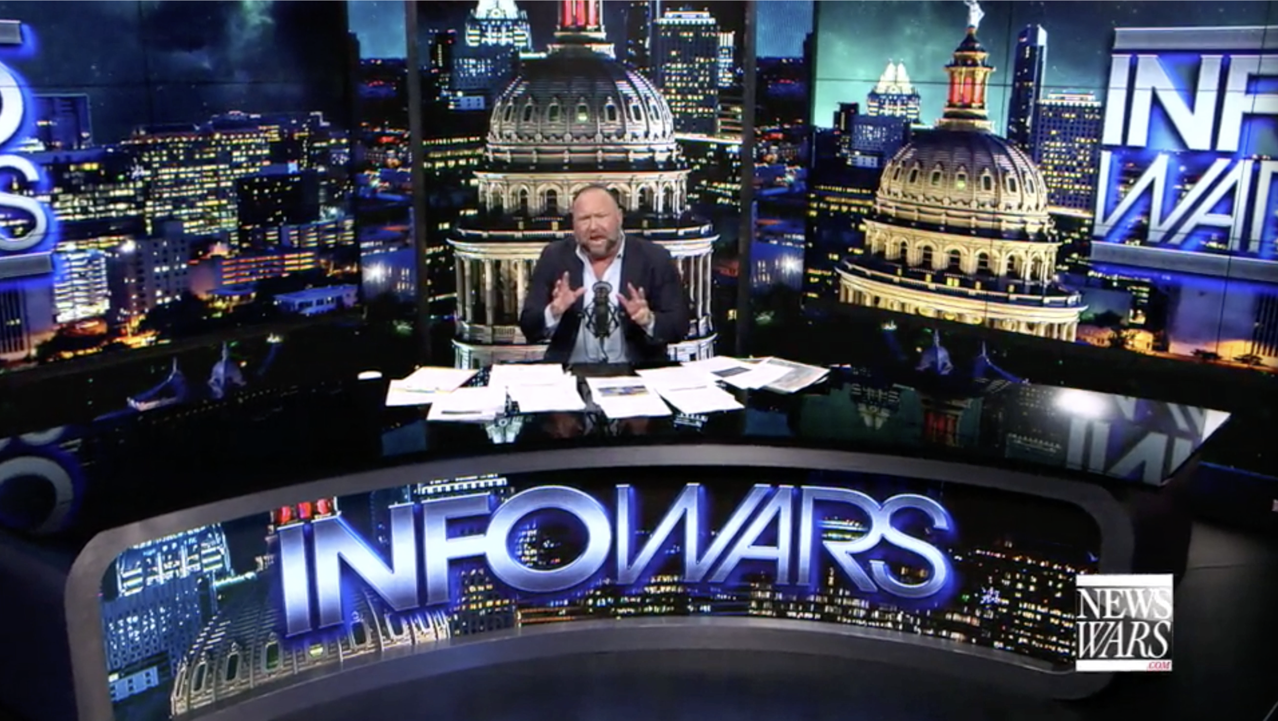 Alex Jones In Infowars Studio EXZM Zack Mount October 23rd 2020