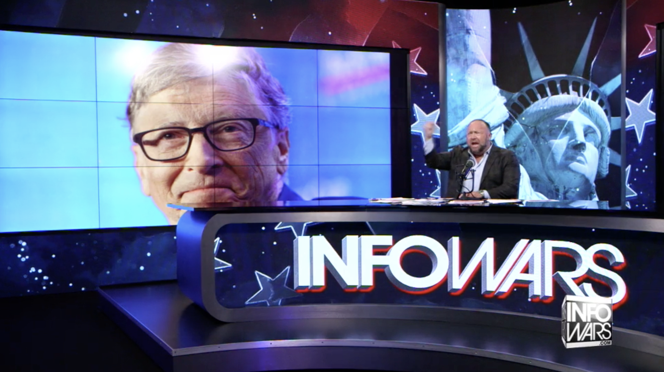 Alex Jones Bill Gates Infowars Studio EXZM Zack Mount November 22nd 2020