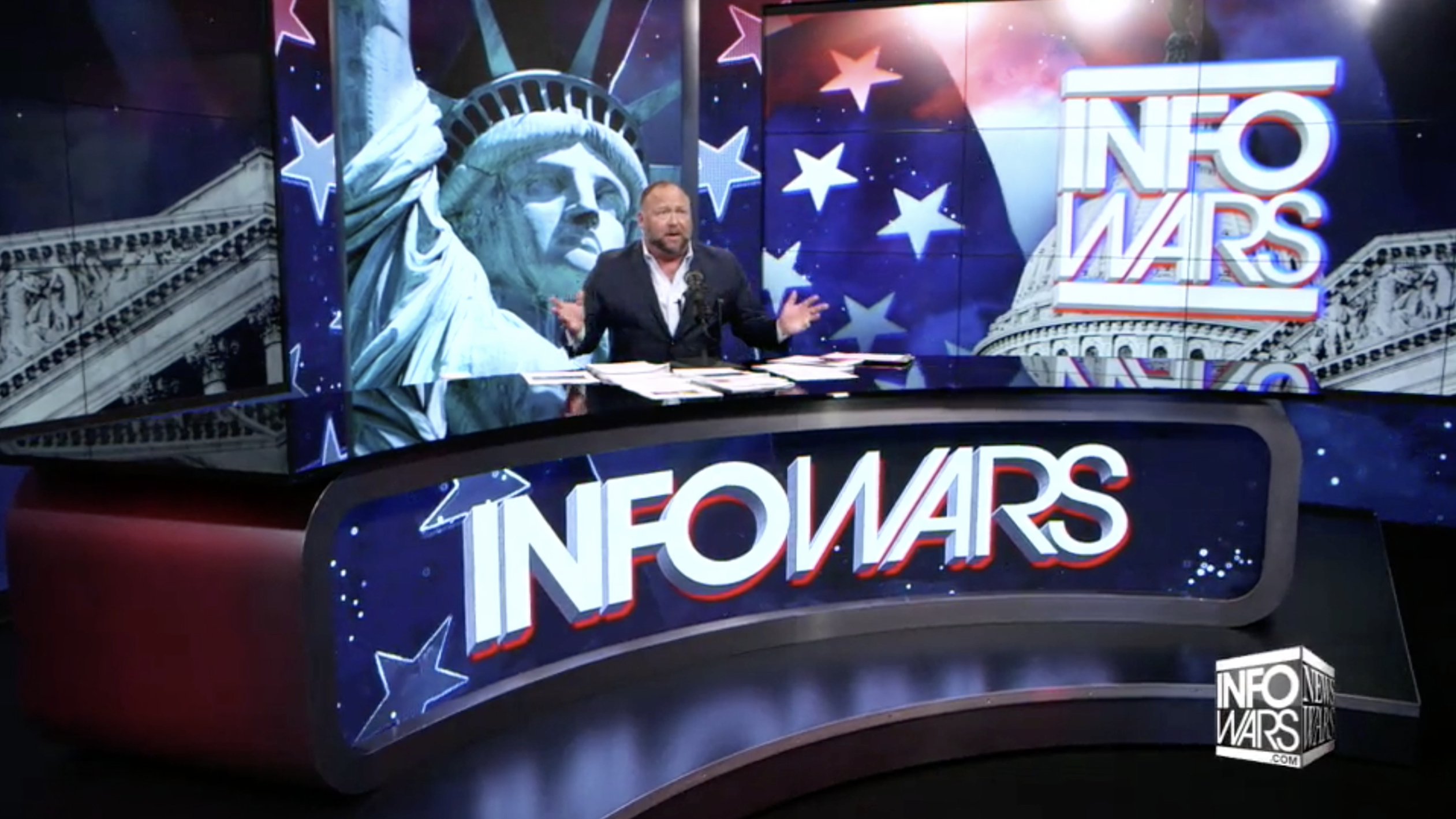Alex Jones In Infowars Studio EXZM Zack Mount November 15th 2020