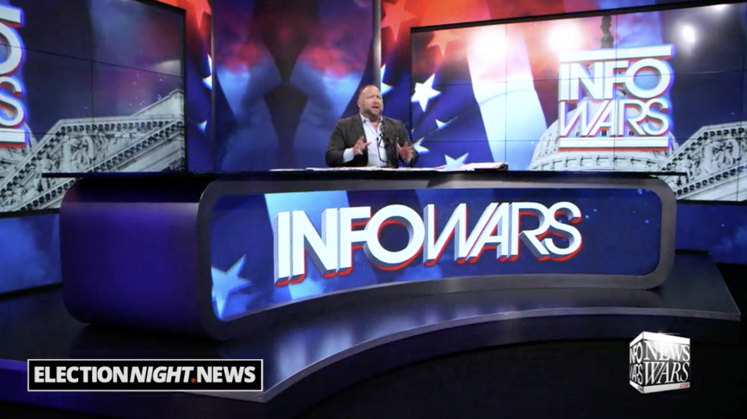 Alex Jones In Infowars Studio EXZM Zack Mount November 1st 2020