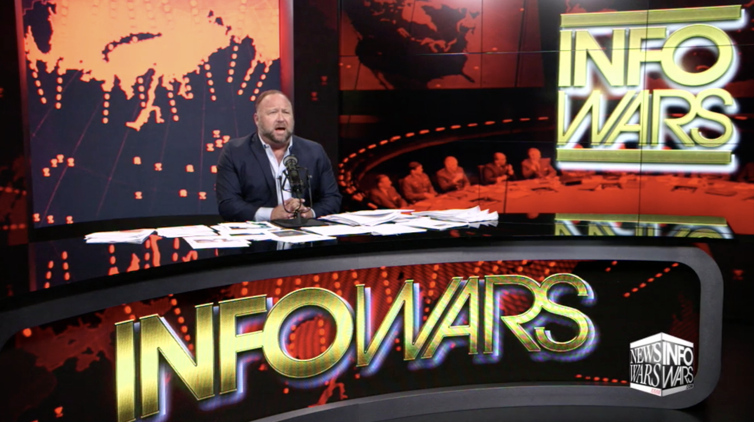 Alex Jones In Infowars Studio EXZM Zack Mount November 8th 2020