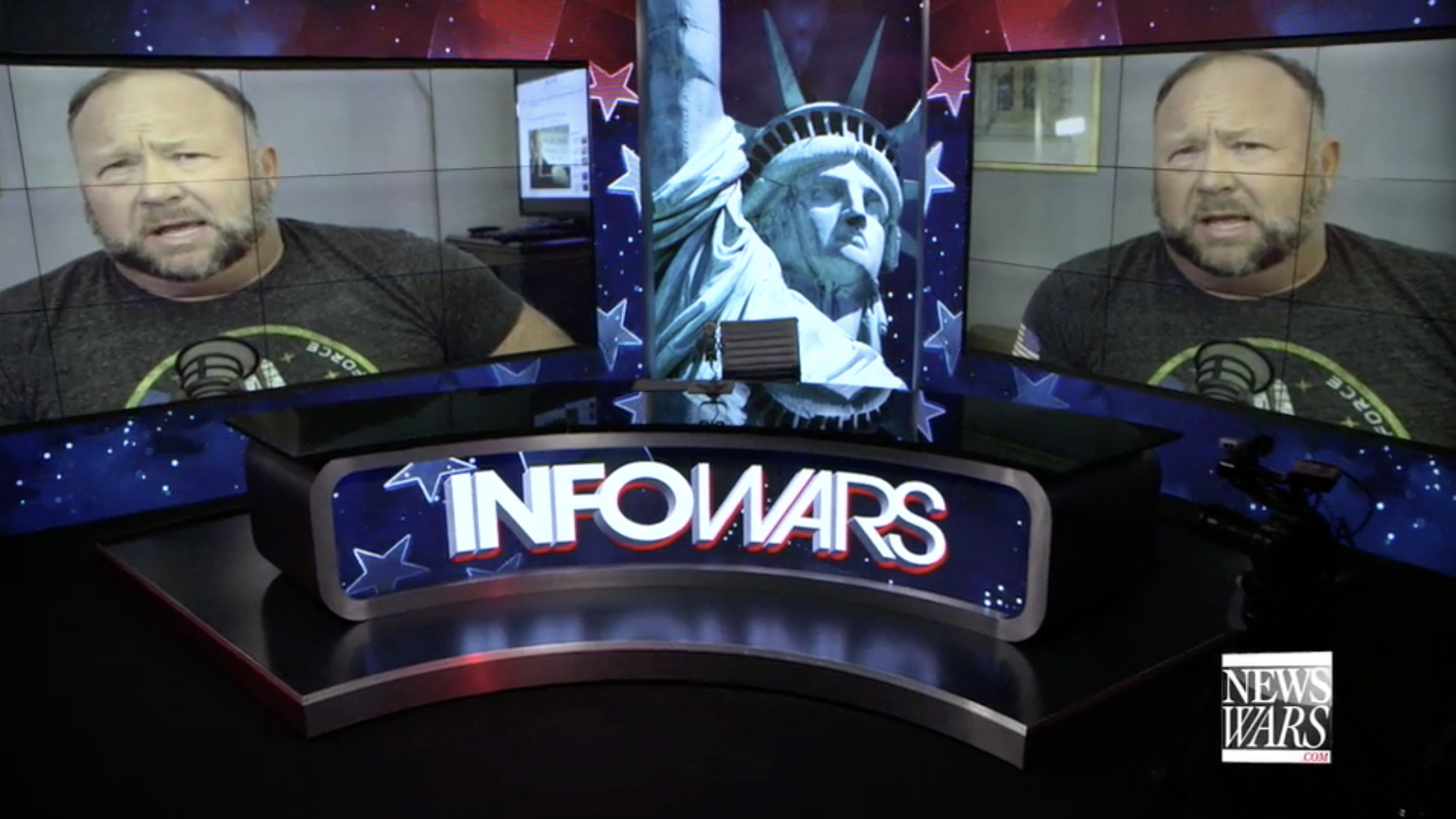 Alex Jones In Infowars Studio Washington DC EXZM Zack Mount November 12th 2020