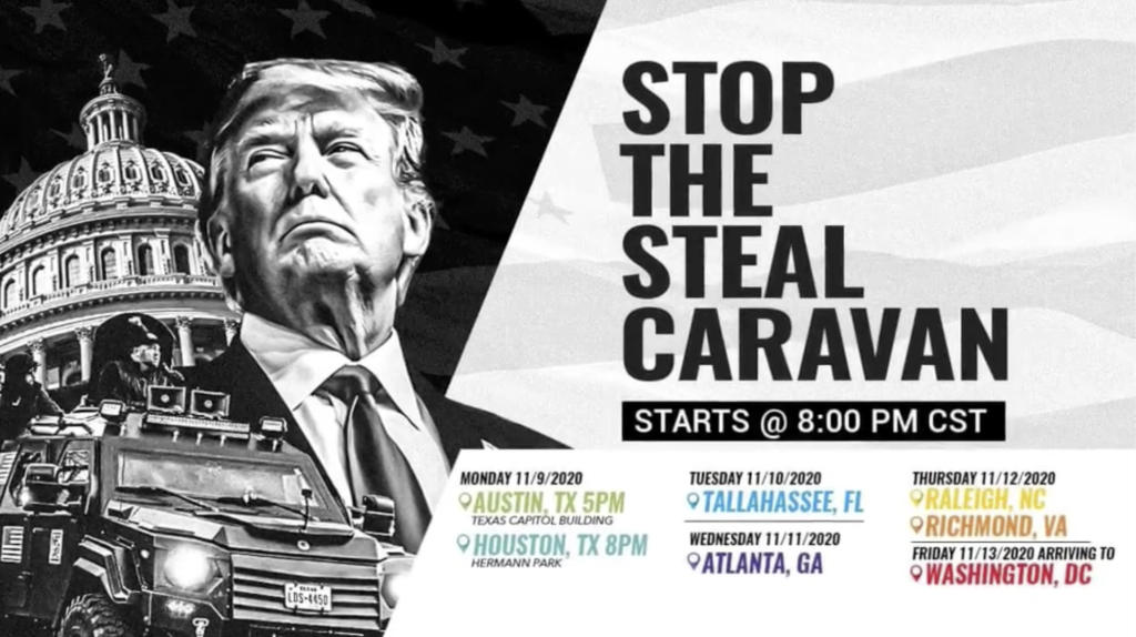 Stop The Steal Caravan Donald Trump Alex Jones In Infowars Studio EXZM Zack Mount November 9th 2020 2