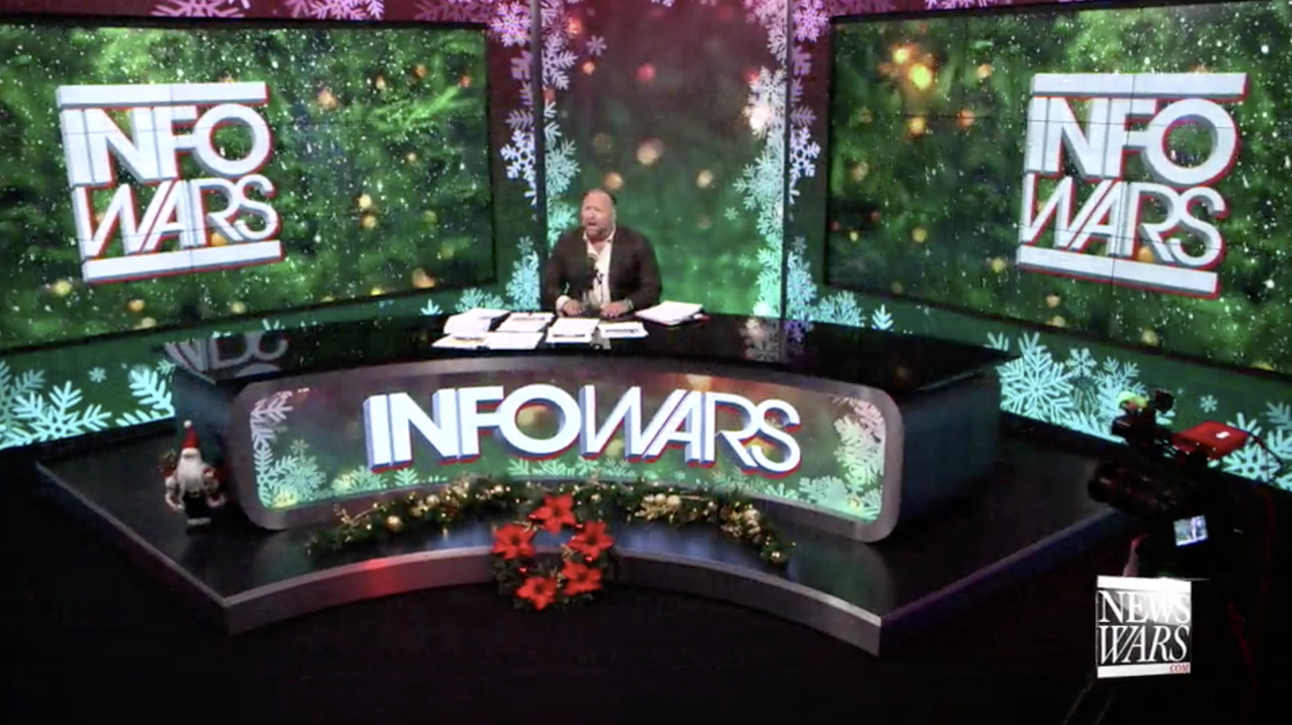 Alex Jones Christmas Infowars Studio EXZM Zack Mount December 14th 2020