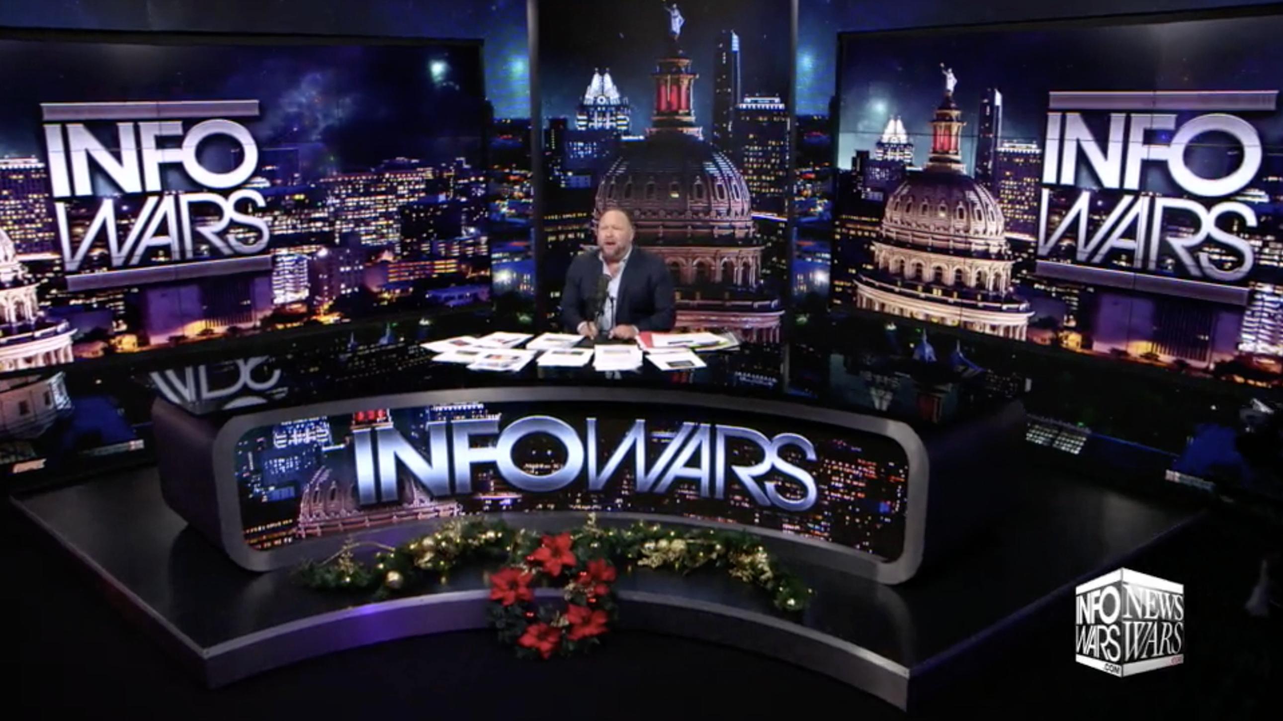 Alex Jones Infowars Studio Christmas EXZM Zack Mount December 10th 2020