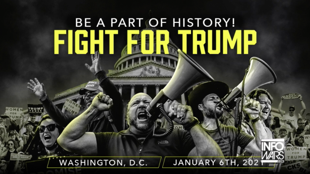 Alex Jones Infowars Be apart of history Fight for Trump EXZM Zack Mount January 4th 2021