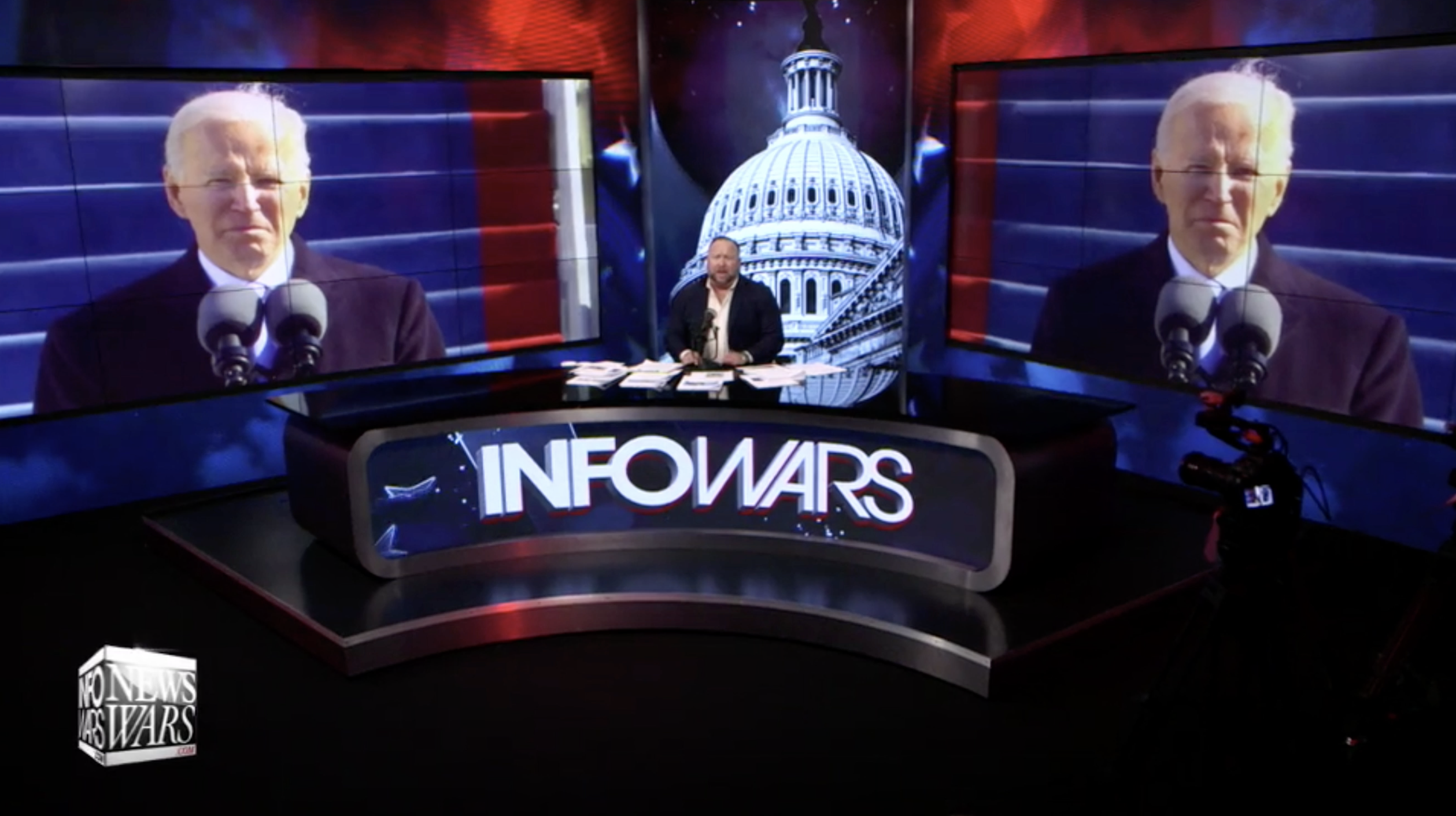 Alex Jones Joe Biden Infowars Studio The Resistance Video EXZM Zack Mount January 20th 2021