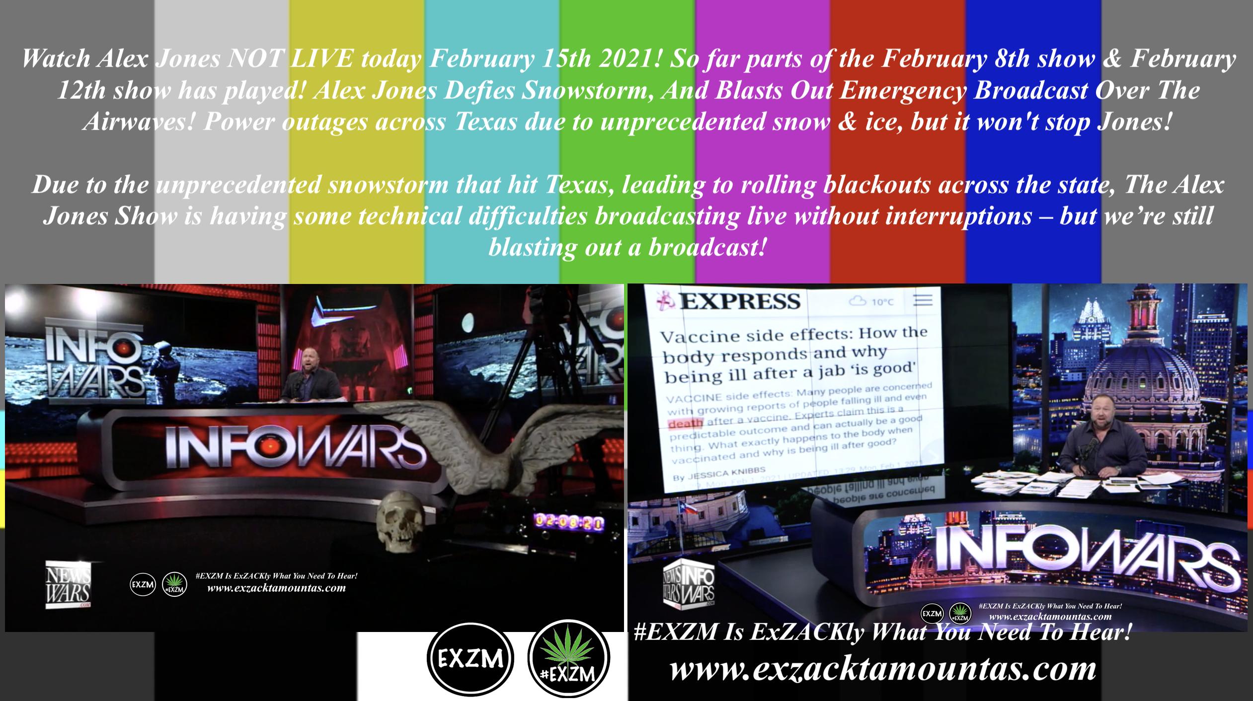 Alex Jones Infowars Studio EXZM Zack Mount February 15th 2021