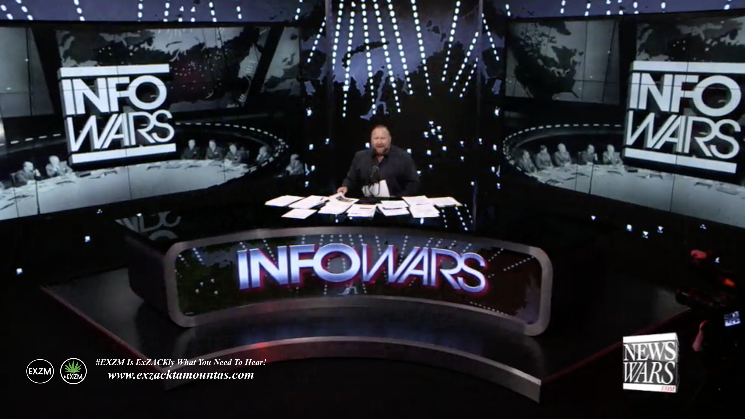 Alex Jones Infowars Studio EXZM Zack Mount February 5th 2021 copy