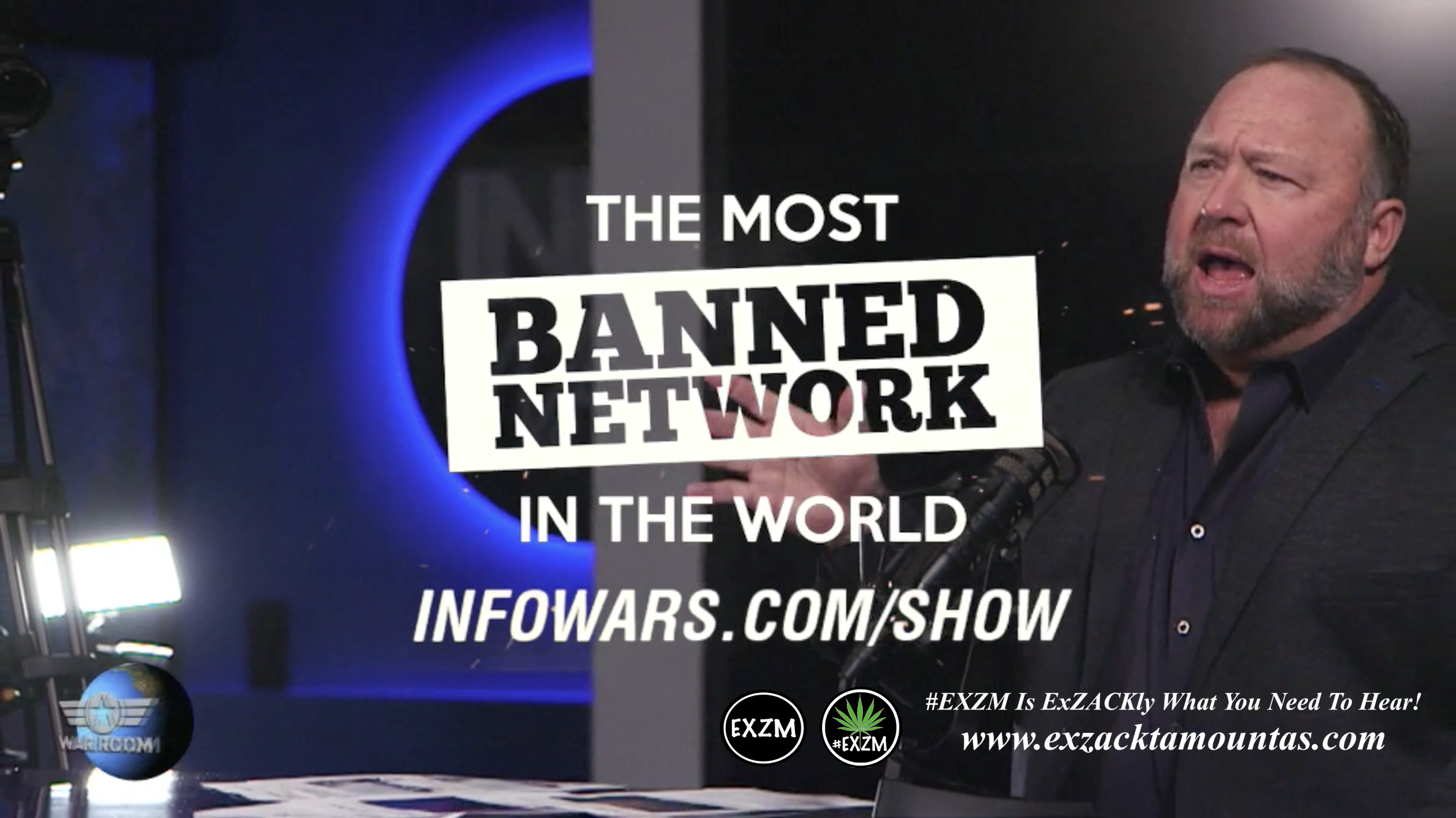 Alex Jones Live Infowars Studio EXZM Zack Mount February 17th 2021 copy