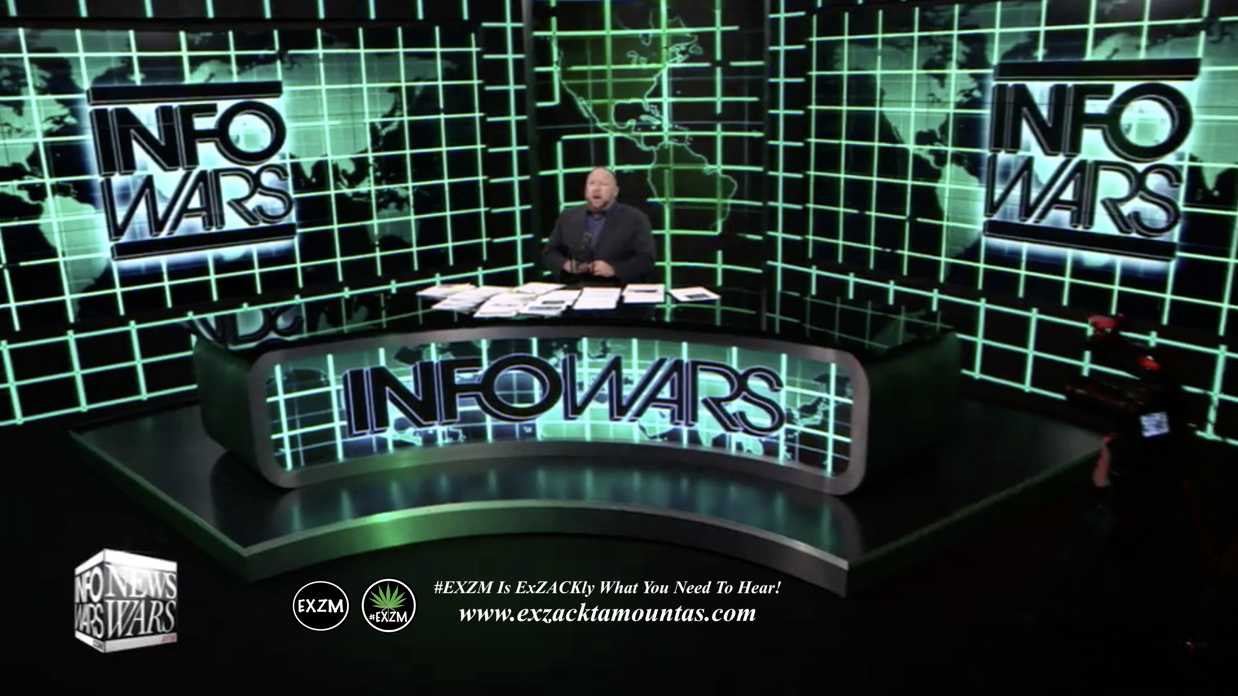 Alex Jones Live Infowars Studio EXZM Zack Mount February 24th 2021 copy