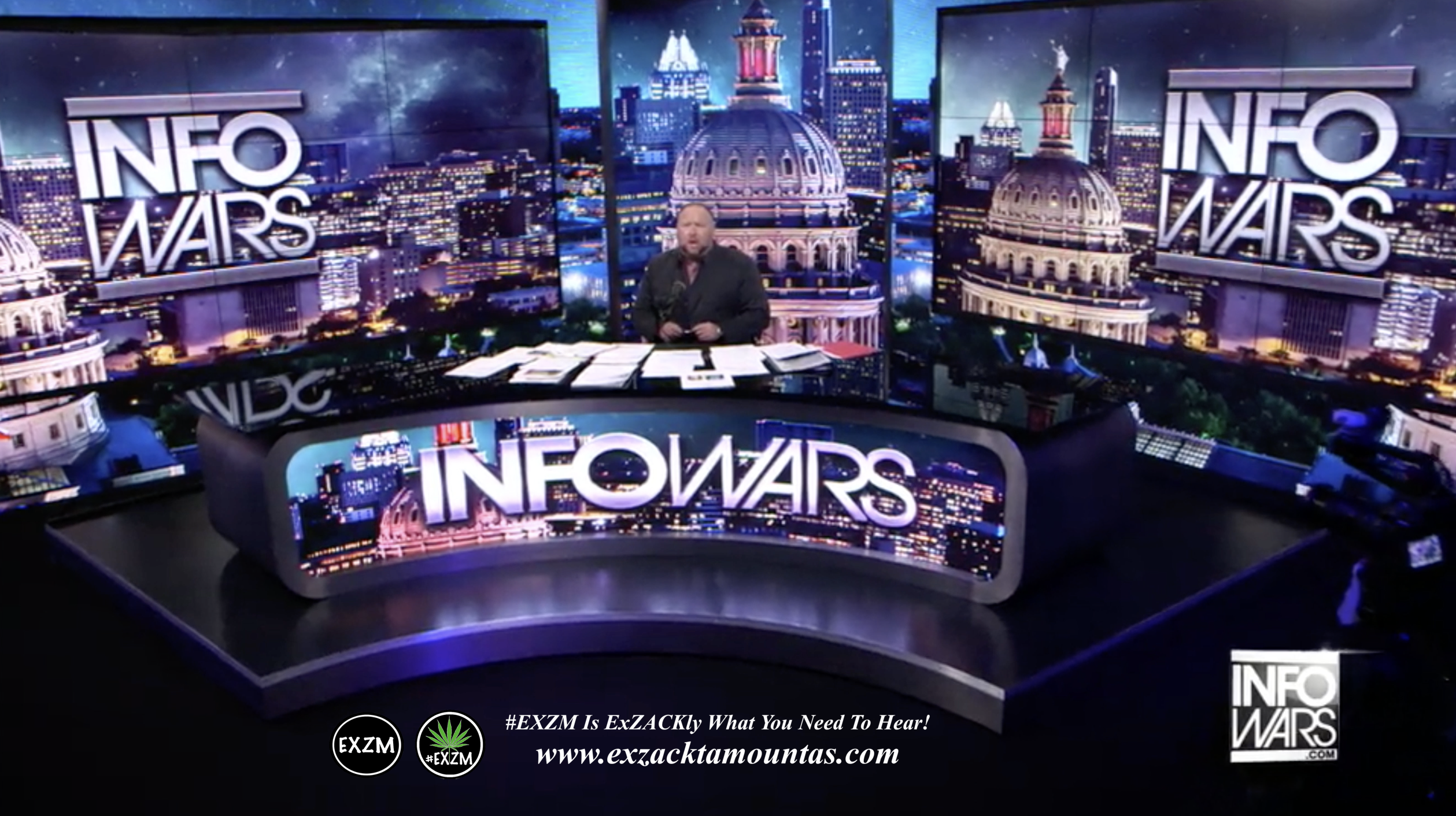 Alex Jones Live Infowars Studio EXZM Zack Mount February 25th 2021 copy
