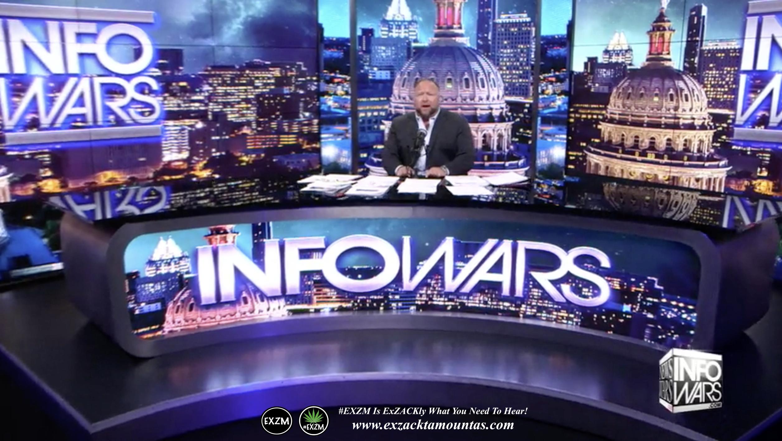 Alex Jones Live Infowars Studio EXZM Zack Mount March 16th 2021 copy