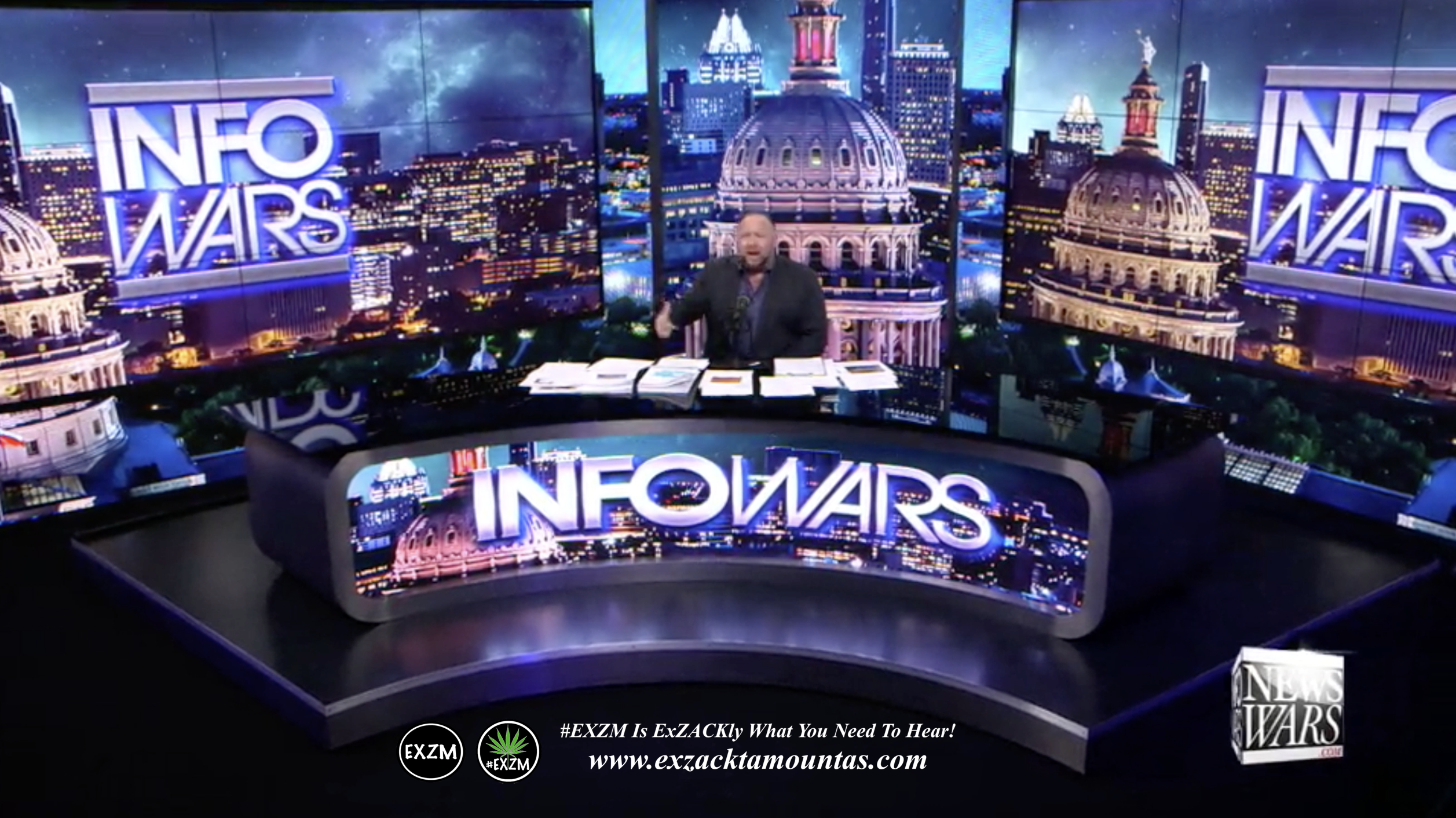 Alex Jones Live Infowars Studio EXZM Zack Mount March 2nd 2021 copy