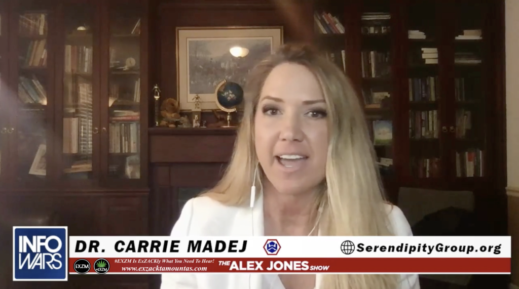 Alex Jones Dr Carrie Madej The Serendipity Group Org Live Infowars Studio EXZM Zack Mount April 30th 2021 2