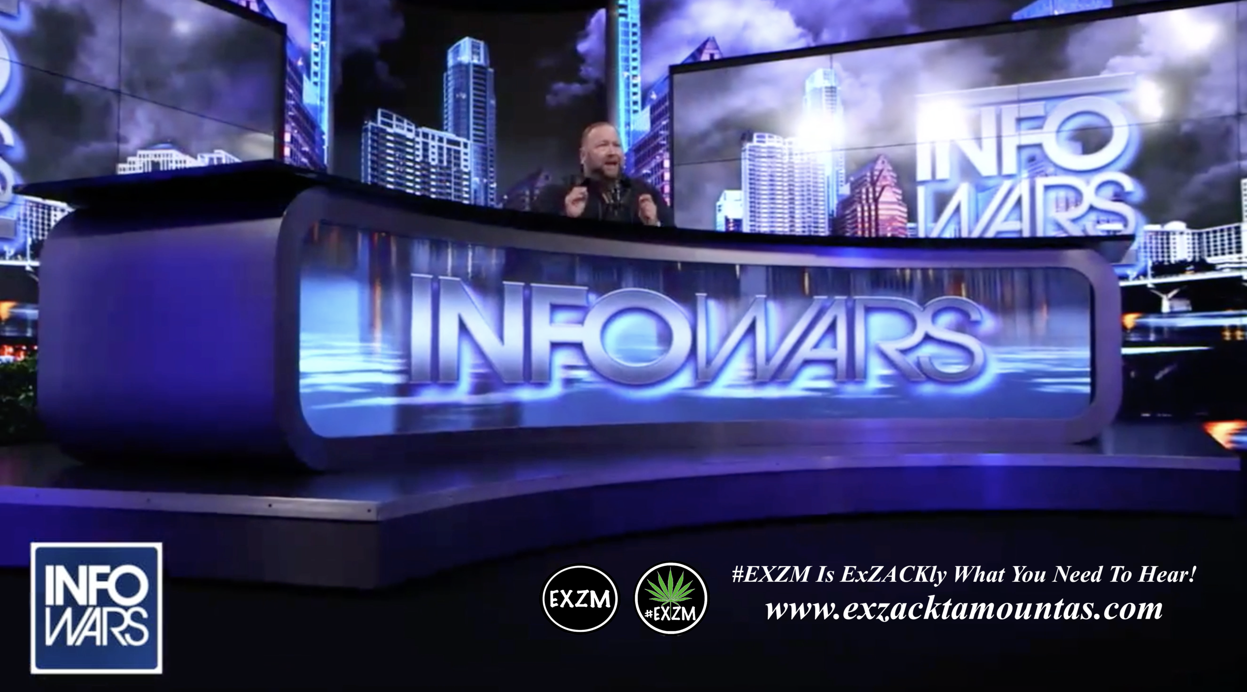 Alex Jones Live Infowars Studio EXZM Zack Mount April 12th 2021 copy