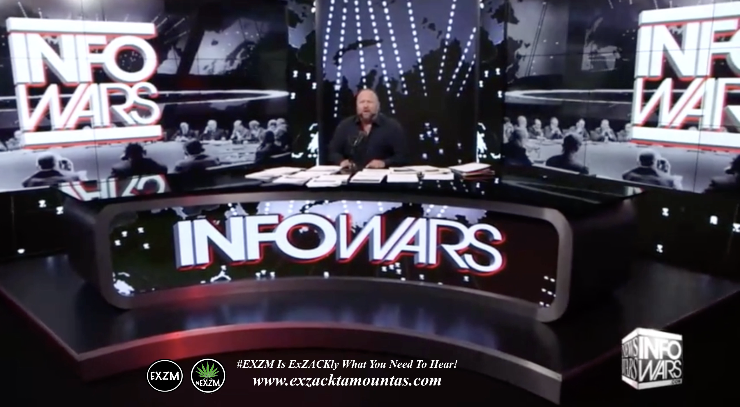 Alex Jones Live Infowars Studio EXZM Zack Mount April 14th 2021 copy