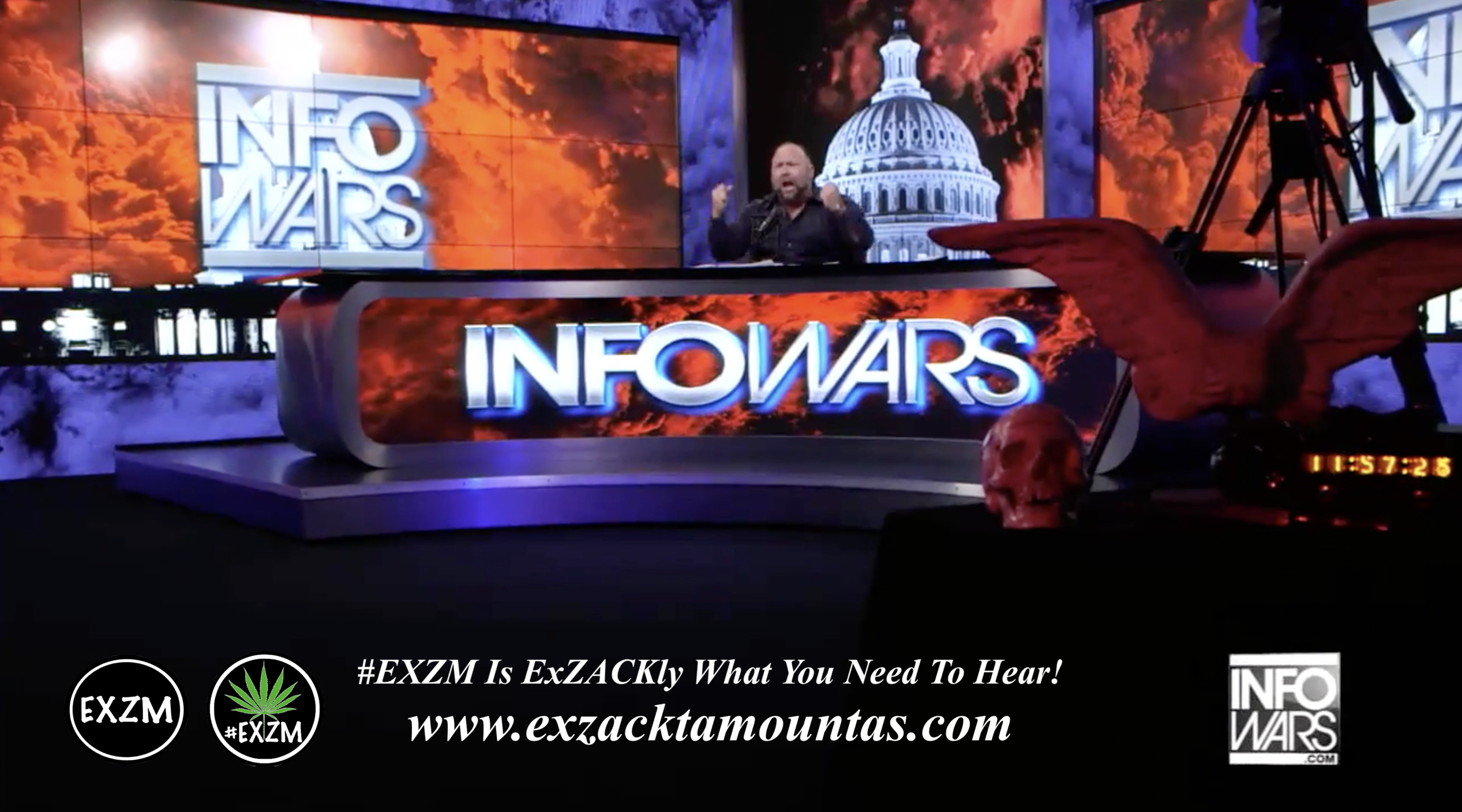 Alex Jones Live Infowars Studio EXZM Zack Mount April 15th 2021 copy