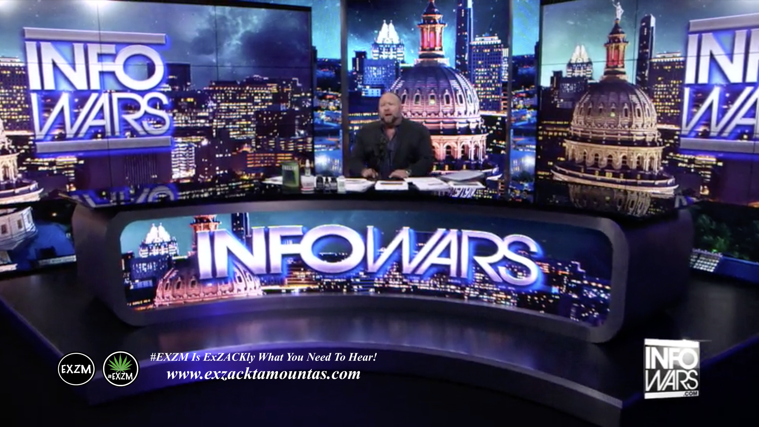 Alex Jones Live Infowars Studio EXZM Zack Mount April 19th 2021 copy