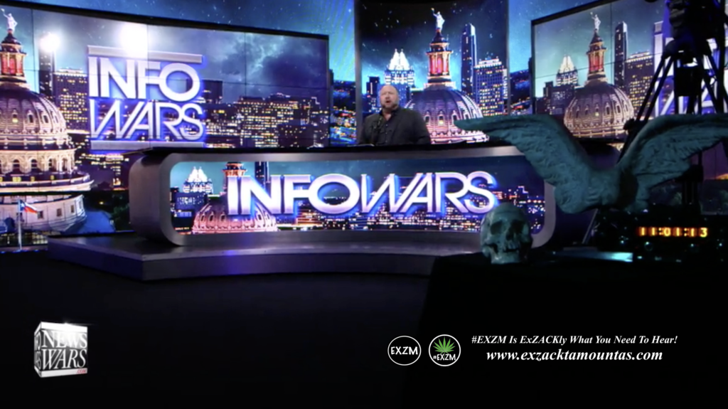 Alex Jones Live Infowars Studio EXZM Zack Mount April 23rd 2021 copy