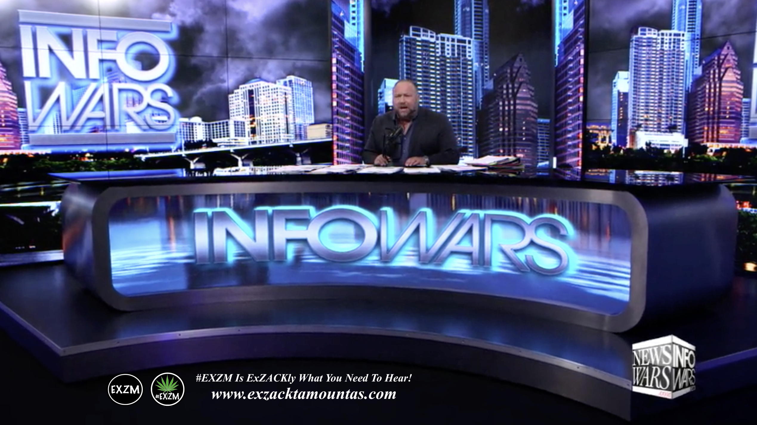 Alex Jones Live Infowars Studio EXZM Zack Mount April 27th 2021 copy