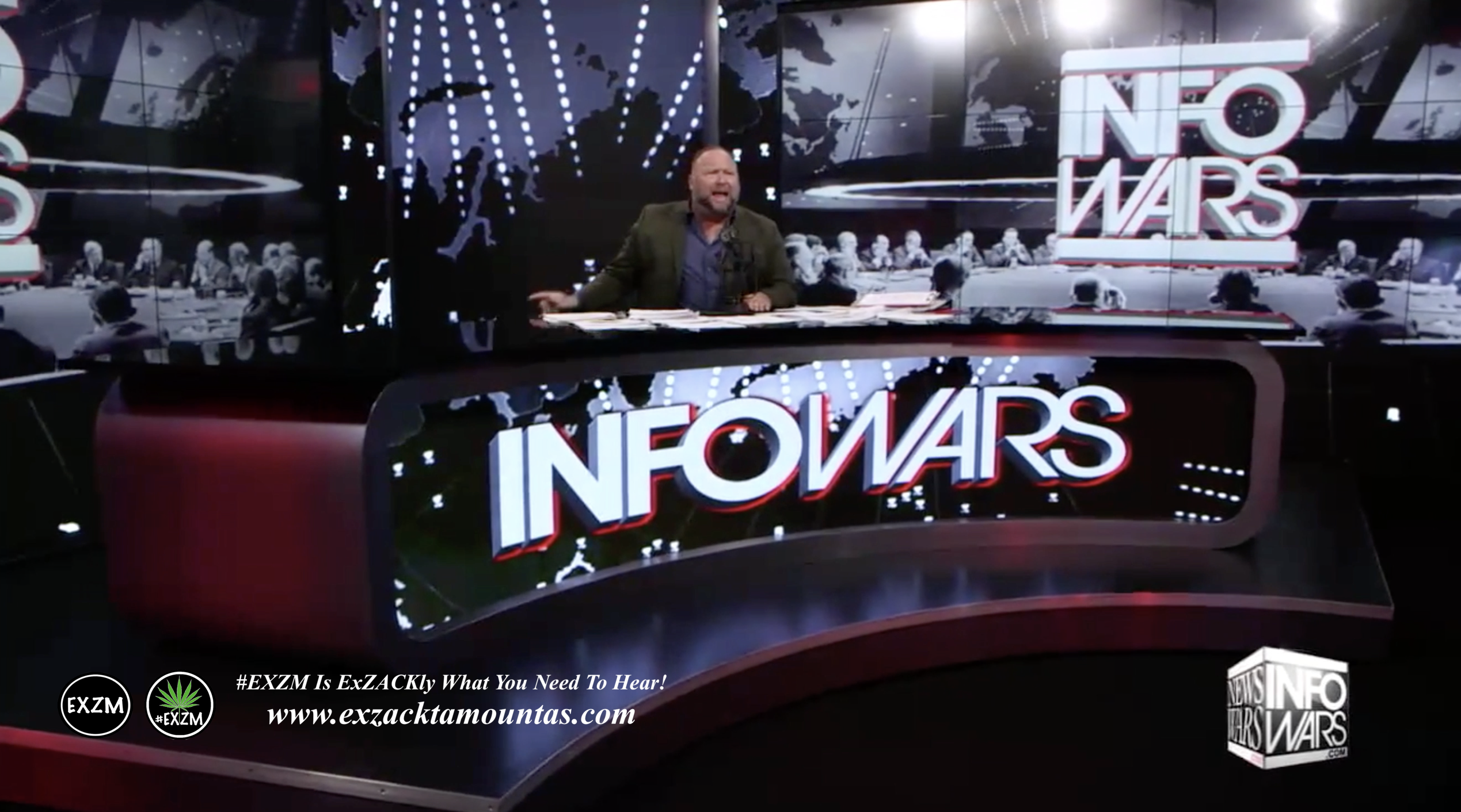 Alex Jones Live Infowars Studio EXZM Zack Mount April 2nd 2021 copy