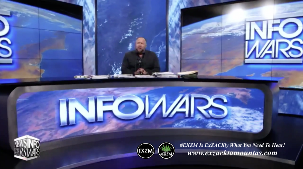Alex Jones Live Infowars Studio EXZM Zack Mount April 4th 2021 copy