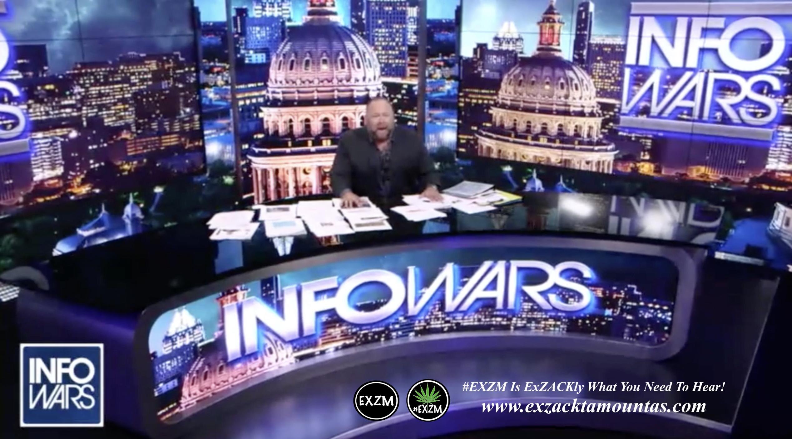 Alex Jones Live Infowars Studio EXZM Zack Mount April 9th 2021 copy
