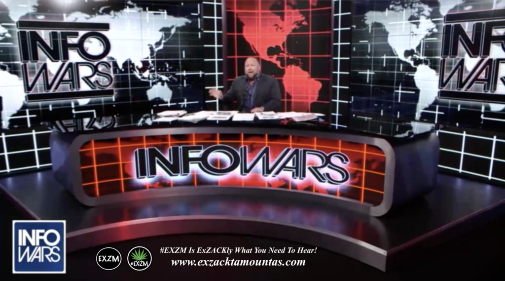 Alex Jones Live Infowars Studio EXZM Zack Mount March 18th 2021 copy