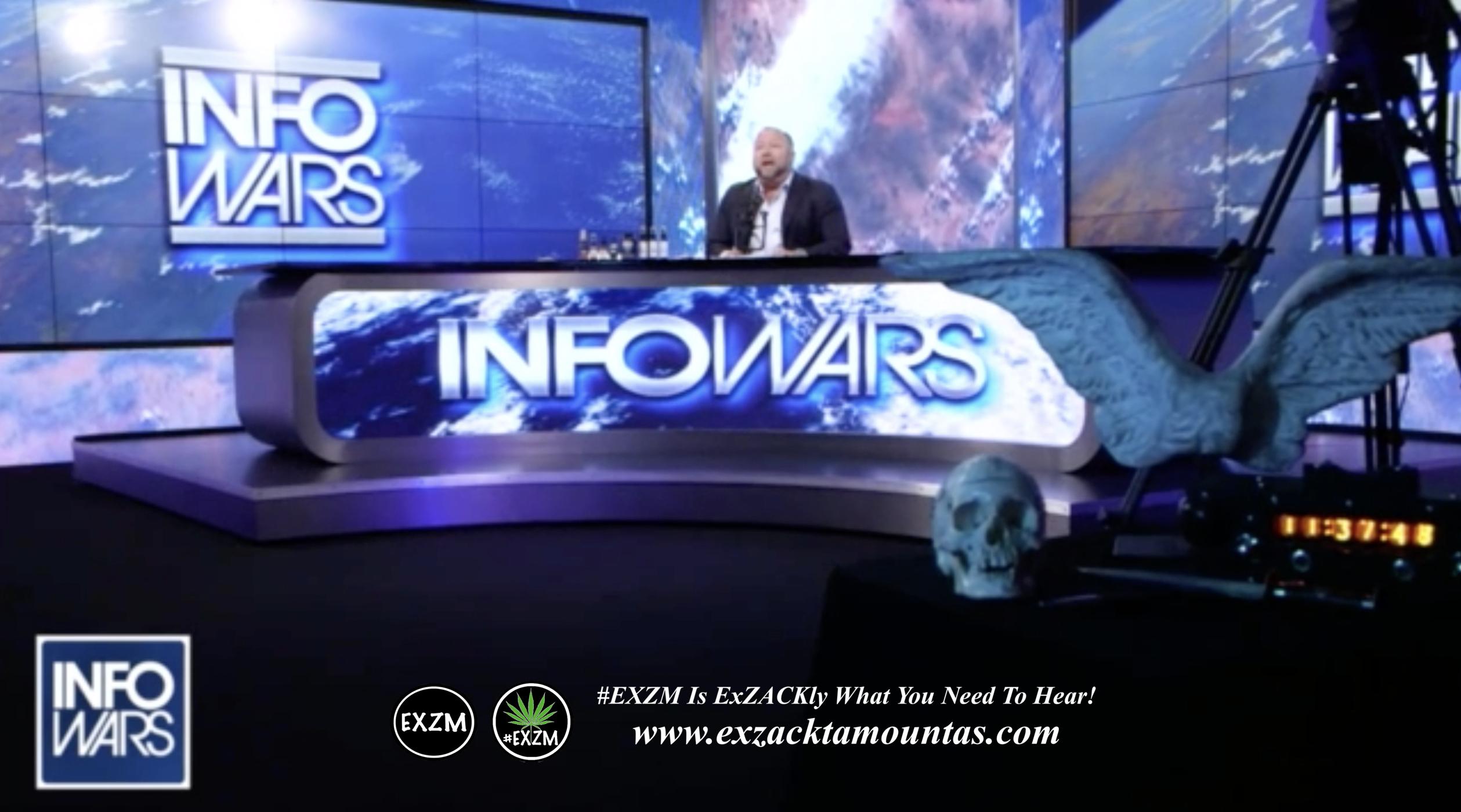 Alex Jones Live Infowars Studio EXZM Zack Mount March 24th 2021 copy