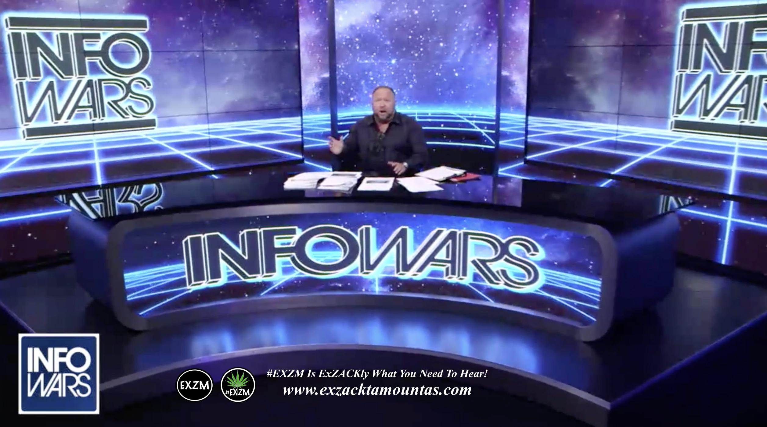 Alex Jones Live Infowars Studio EXZM Zack Mount March 26th 2021 copy