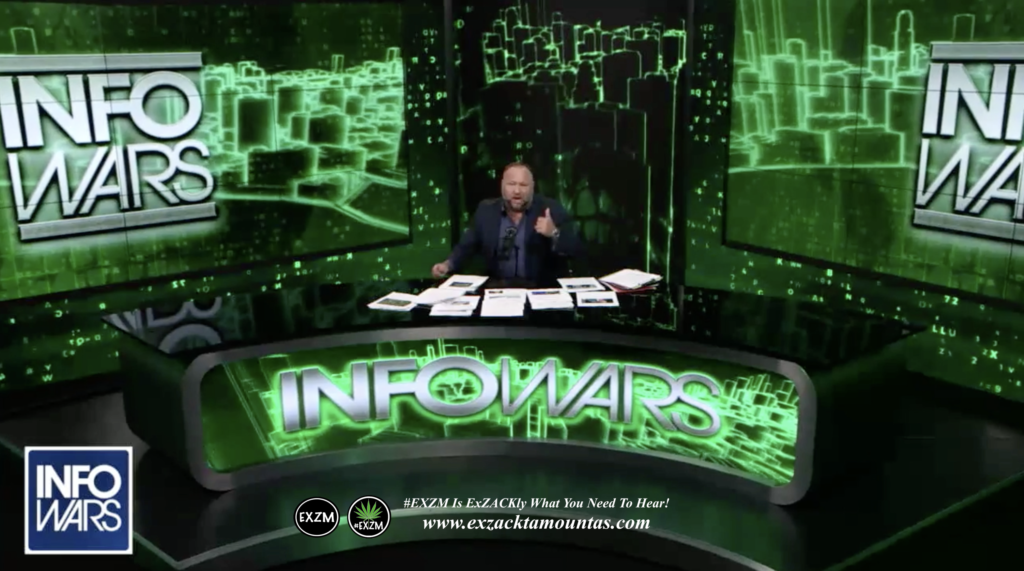 Alex Jones Live Infowars Studio EXZM Zack Mount March 30th 2021 copy