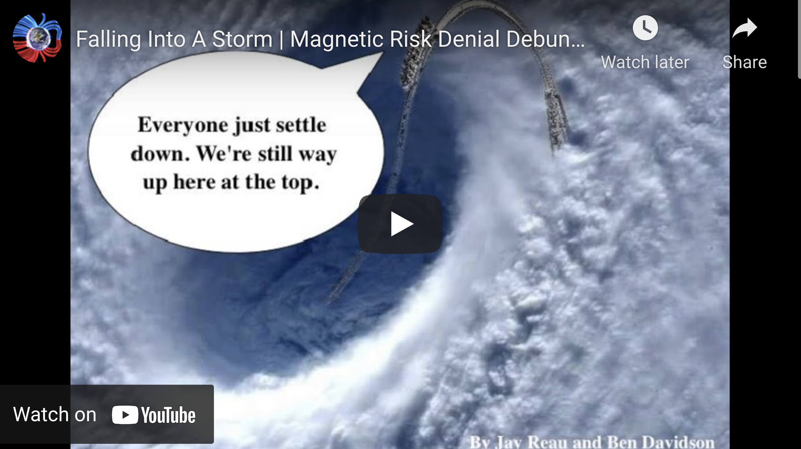 Suspicious Observers Post Falling Into A Storm Magnetic Risk Denial Debunked EXZM Zack Mount March 30th 2021