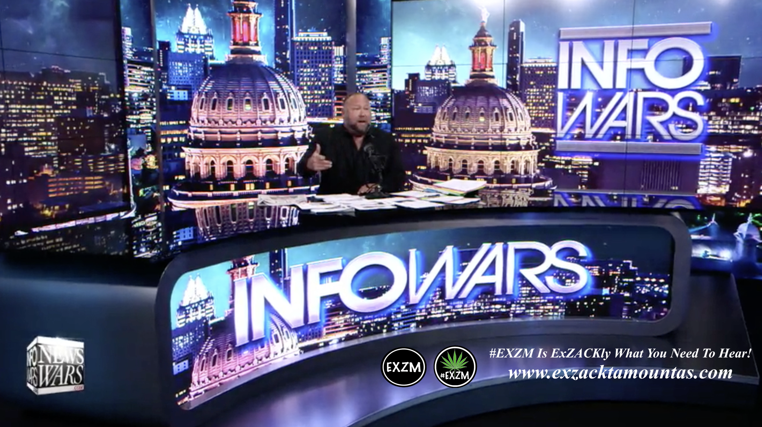 Alex Jones Live In Infowars Studio EXZM Zack Mount May 24th 2021 copy