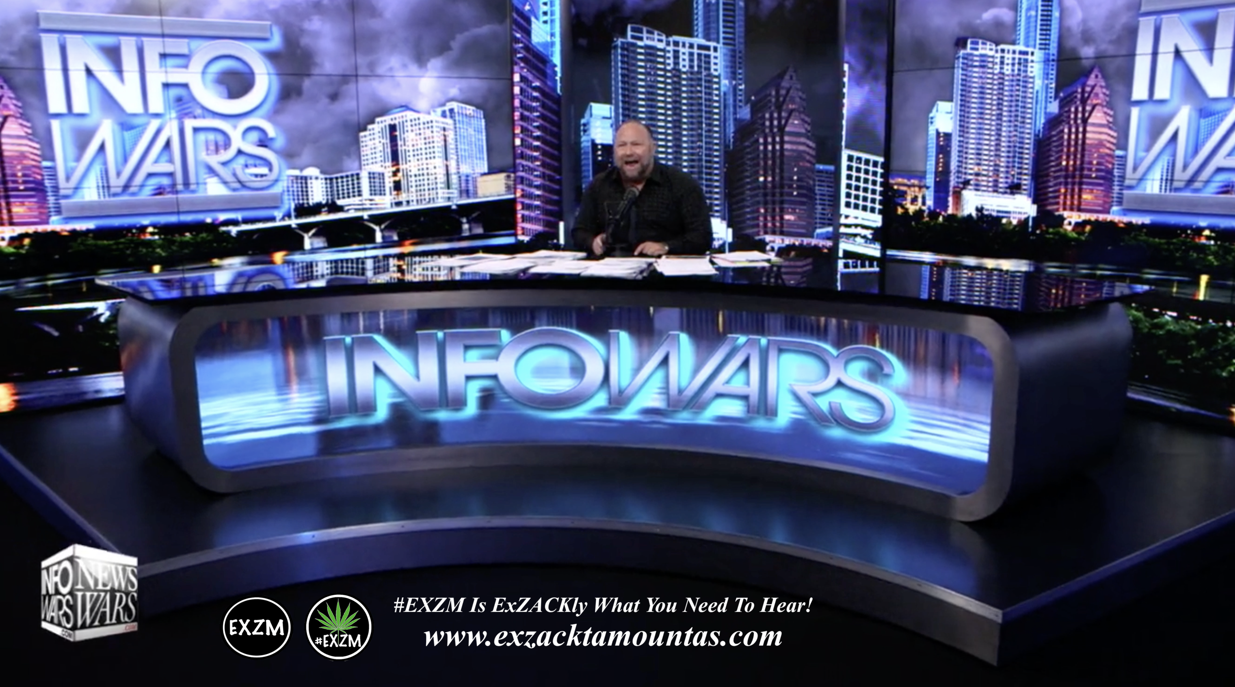 Alex Jones Live Infowars Studio EXZM Zack Mount May 13th 2021 copy