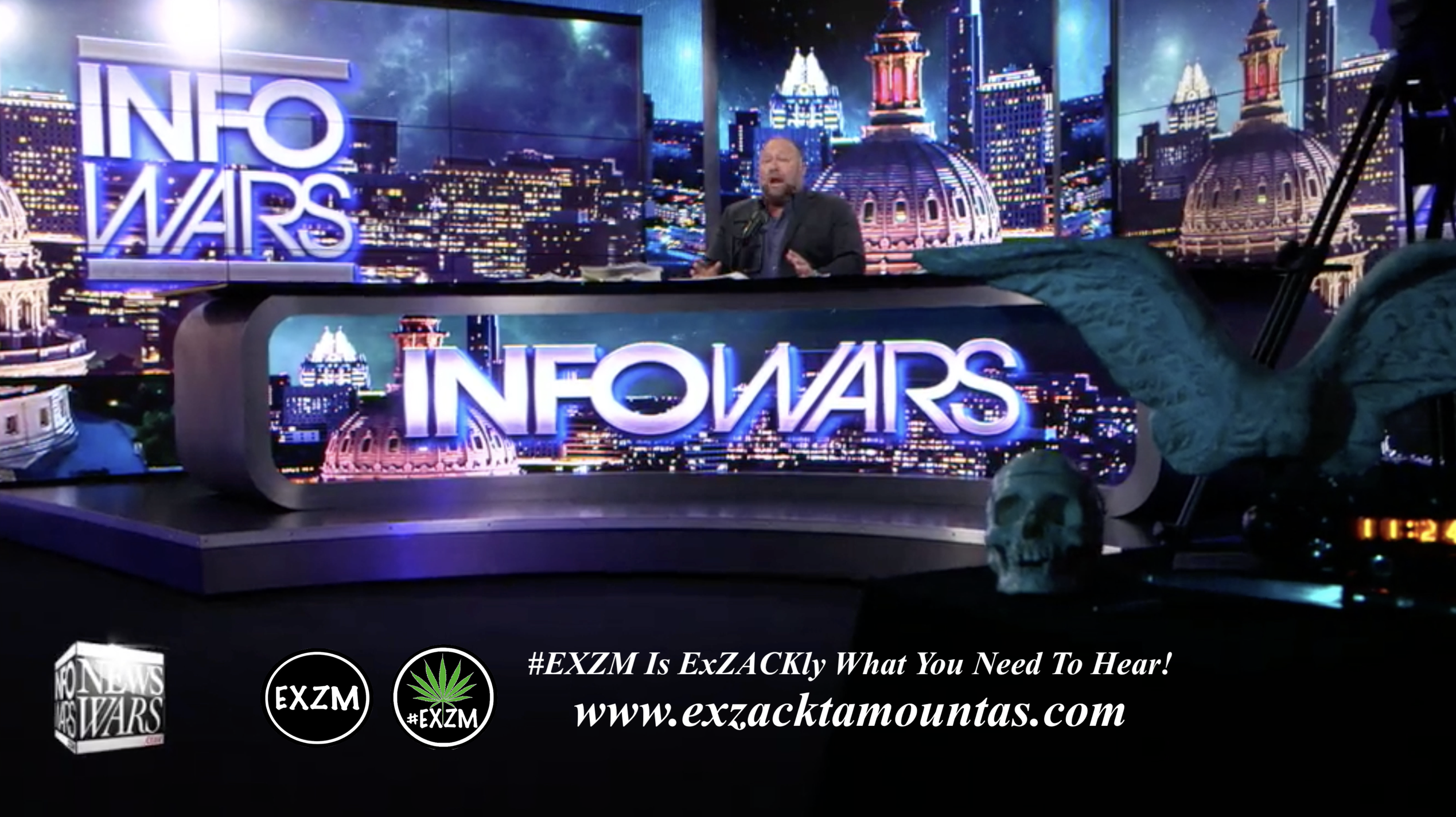 Alex Jones Live Infowars Studio EXZM Zack Mount May 3rd 2021 copy